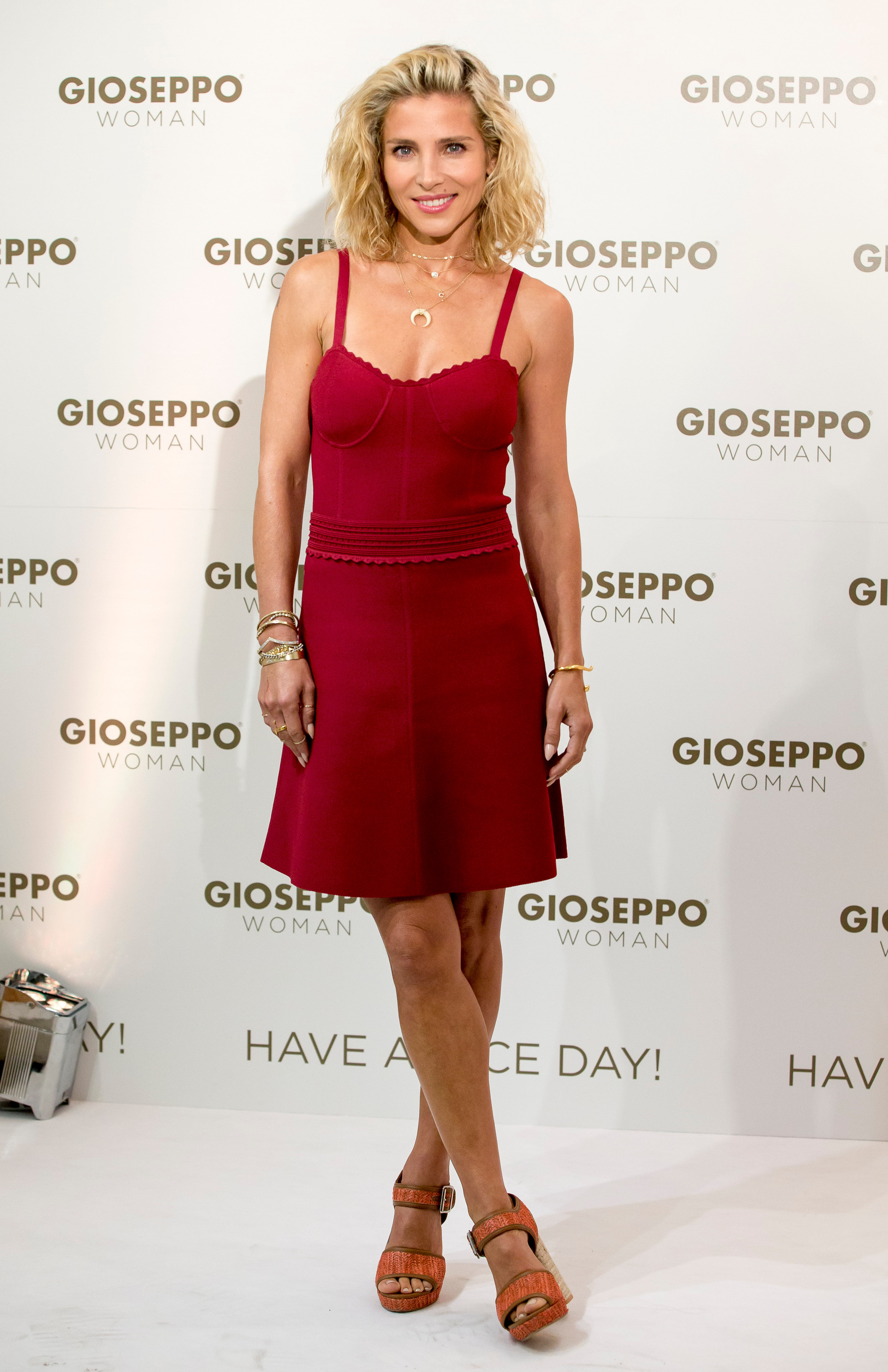 Elsa Pataky attends the Gioseppo Woman spring summer collection launch in Madrid, Spain, on May 11, 2018.
