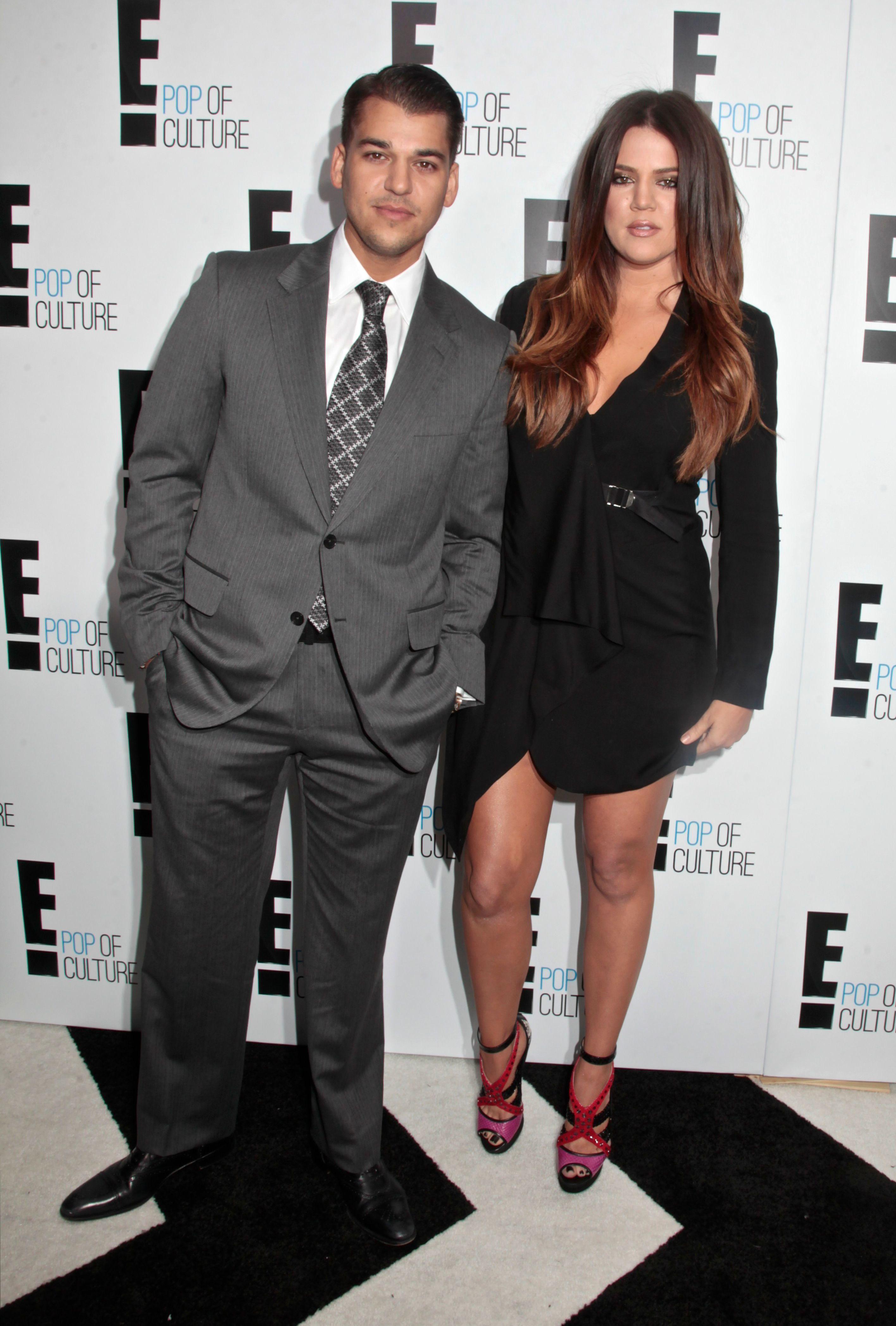 Rob Kardashian and Khloe Kardashian attend the E! Upfront presentation in New York City on April 30, 2012.
