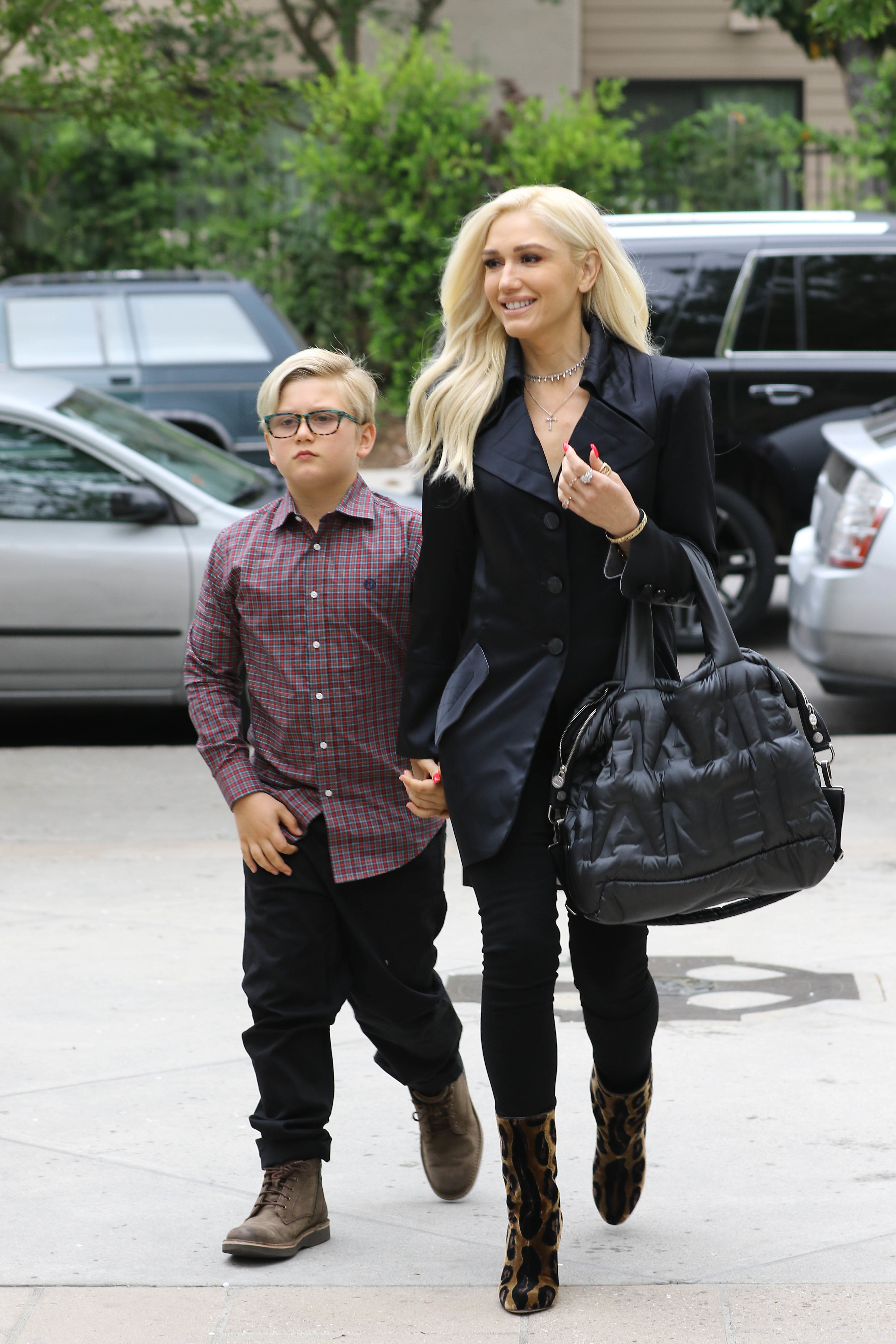 Gwen Stefani heads to church on Mother's Day with her boyfriend Blake Shelton and her children, Zuma Rossdale (pictured), Kingston Rossdale, and Apollo Rossdale, in Los Angeles, Calif., on May 13, 2018.