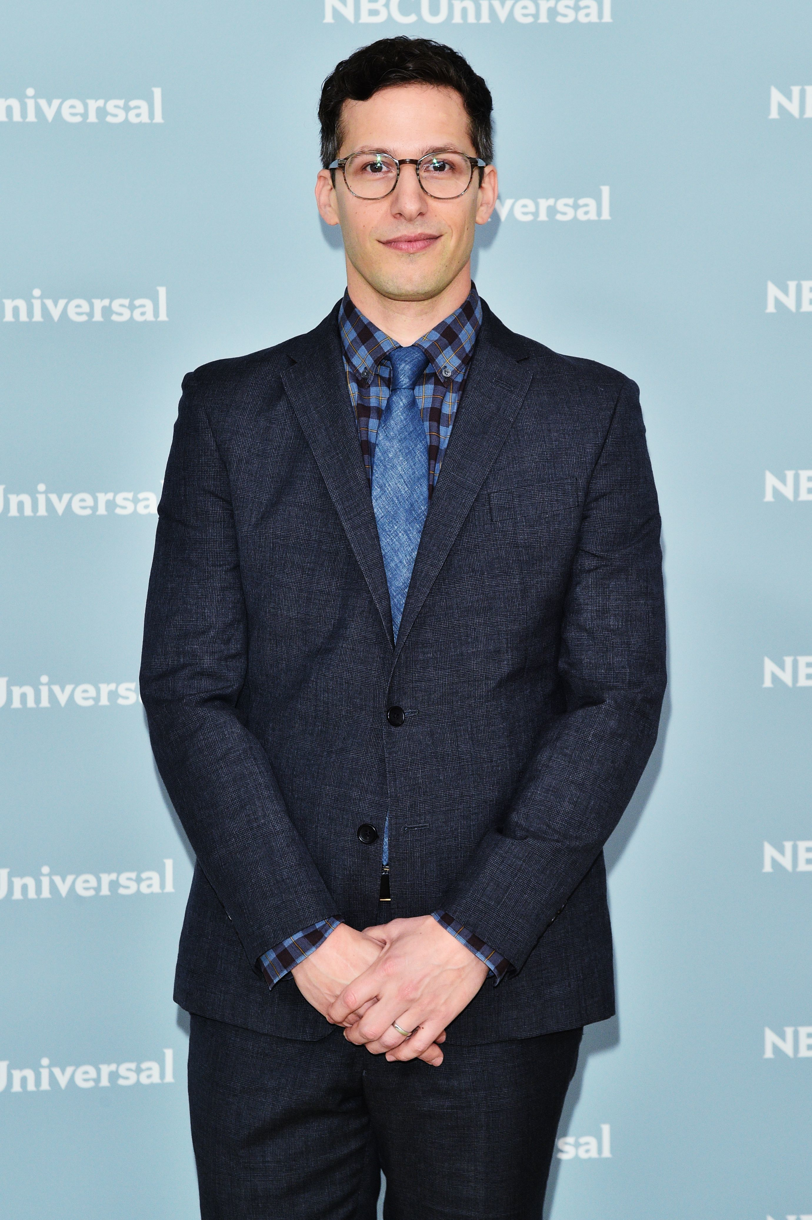 Andy Samberg attends the NBCUniversal Upfront Presentation in New York City on May 14, 2018.