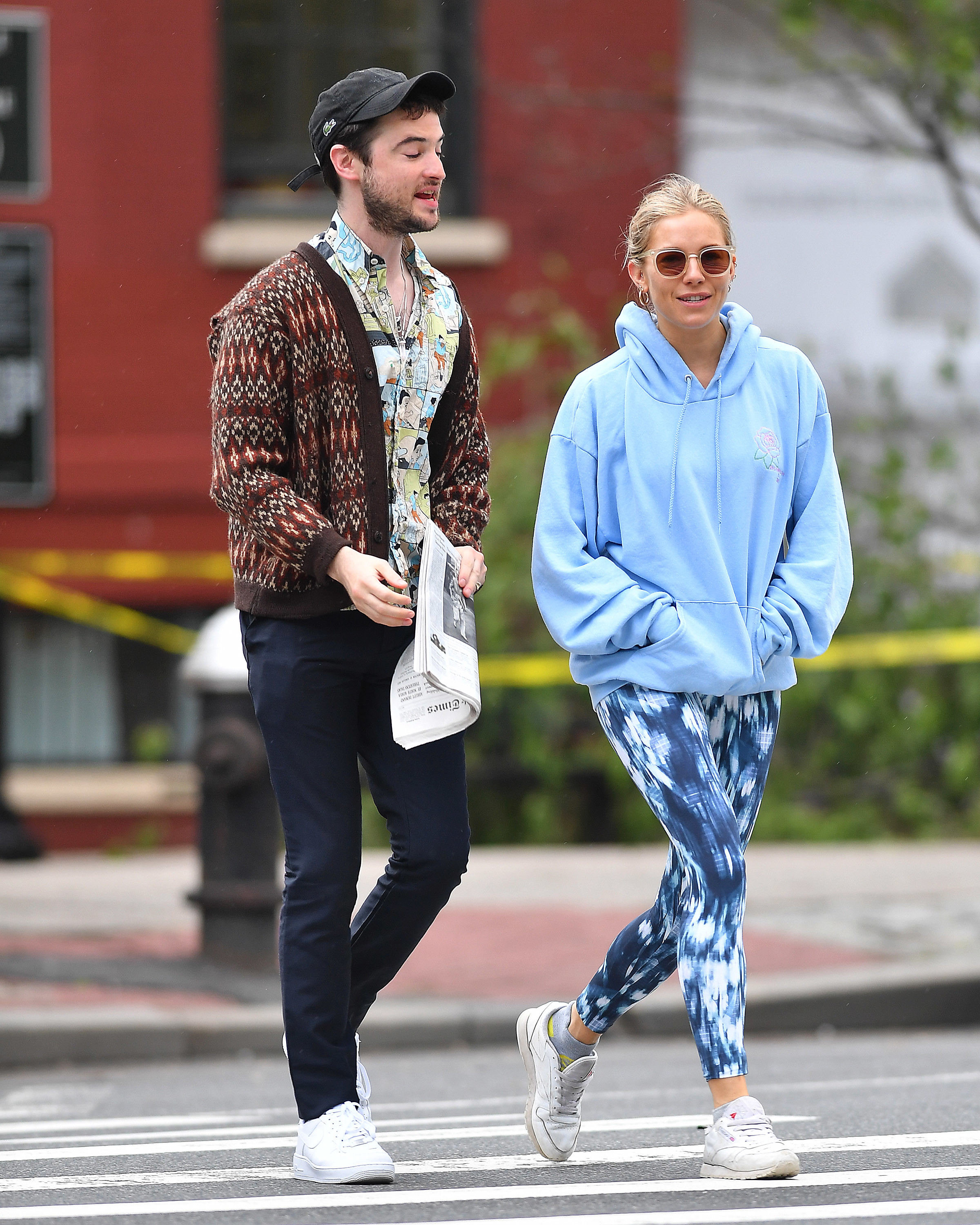 Sienna Miller and Tom Sturridge showed us what co parenting goals are as they were seen catching up while walking around New York City on May 16, 2018.