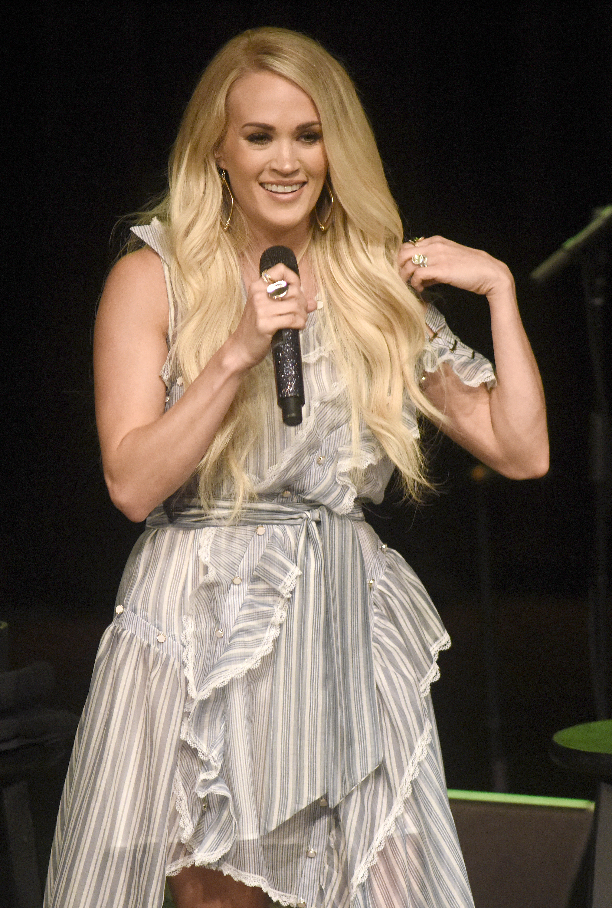 Carrie Underwood performs at the Jam Cellars Ballroom during Live In The Vineyard Goes Country in Napa, California, on May 16, 2018.