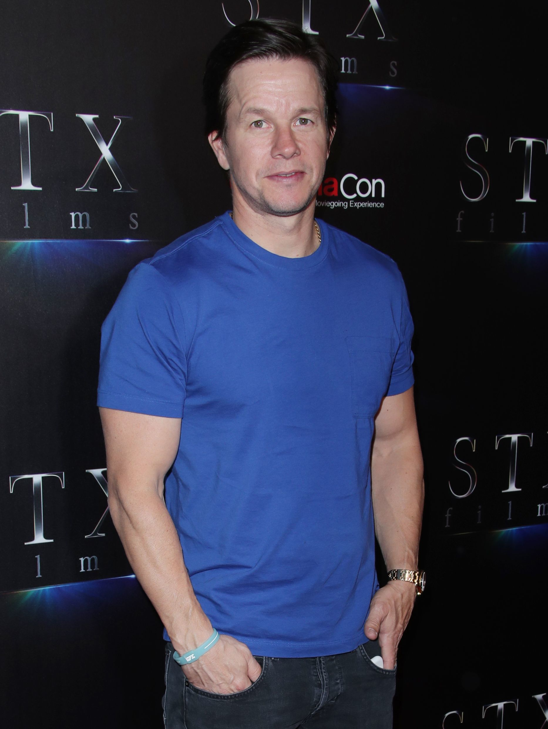 Mark Wahlberg attends the An Evening with STXfilms presentatio during CinemaCon in Las on April 24, 2018.