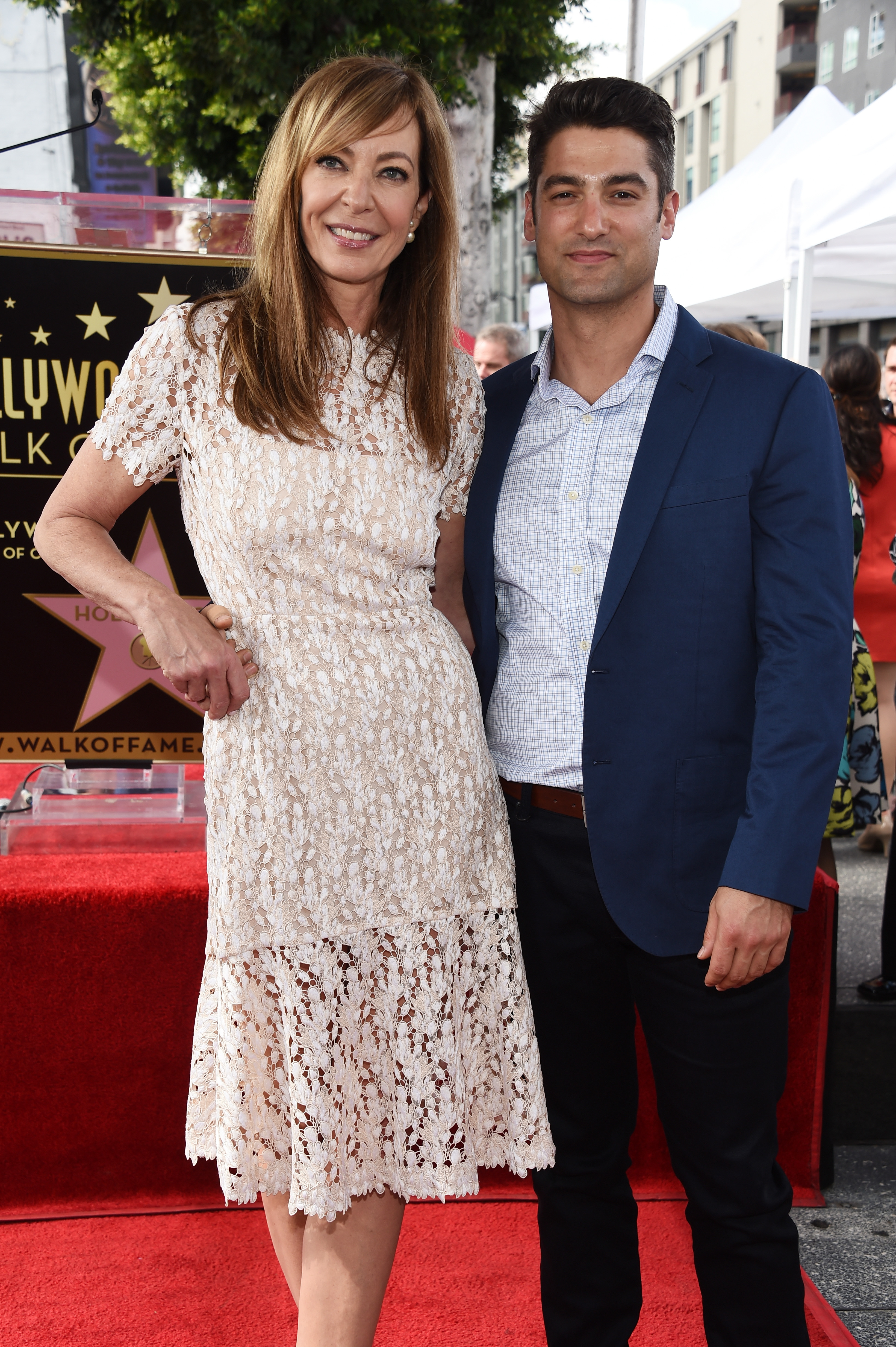 Actress Allison Janney and Philip Joncas attend Janney's Star ceremony on The Hollywood Walk of Fame in Hollywood, California on Oct. 17, 2016.