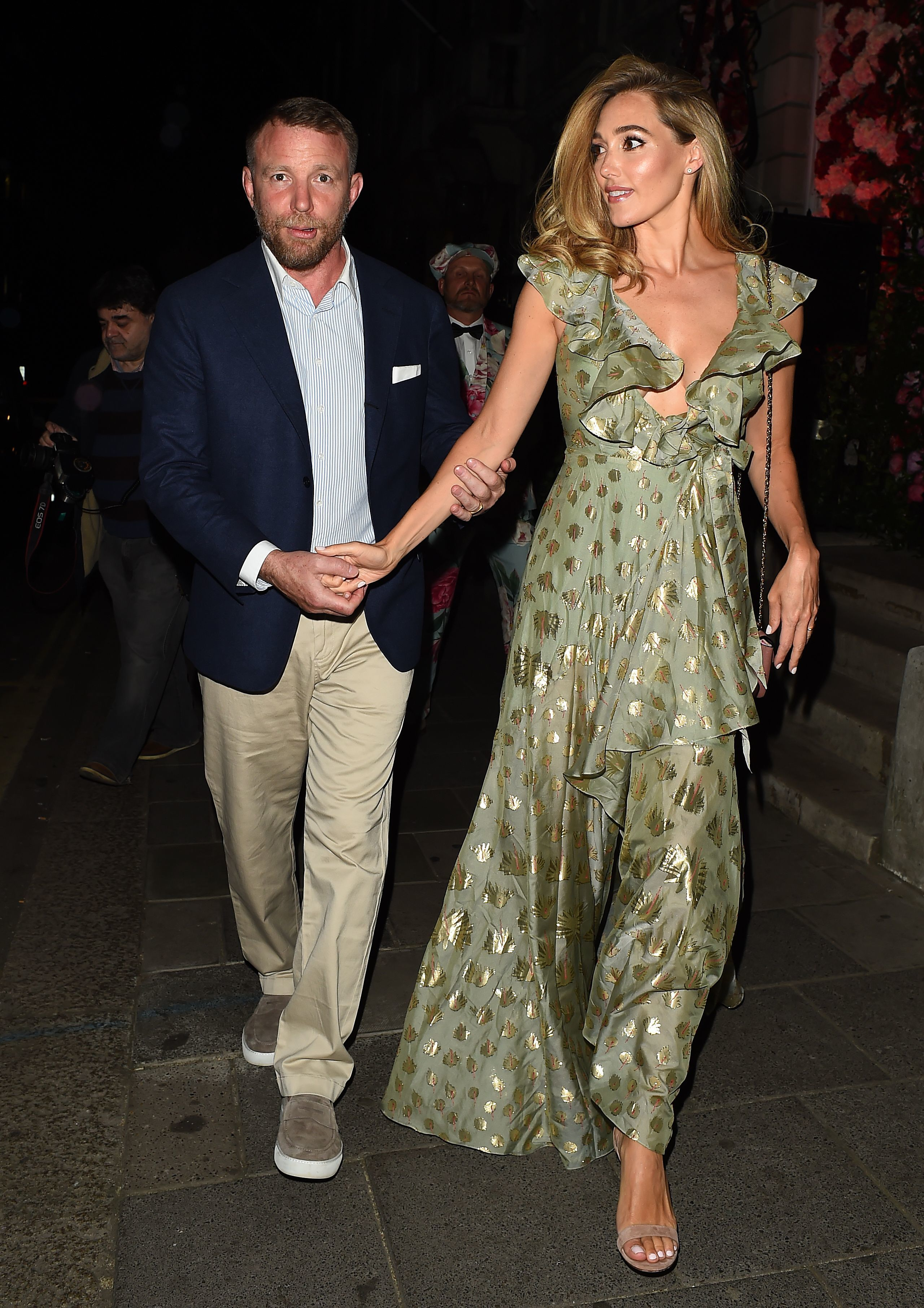 Guy Ritchie and Jacqui Ainsley attend the Annabels x Dior dinner in London on May 21,2 018.