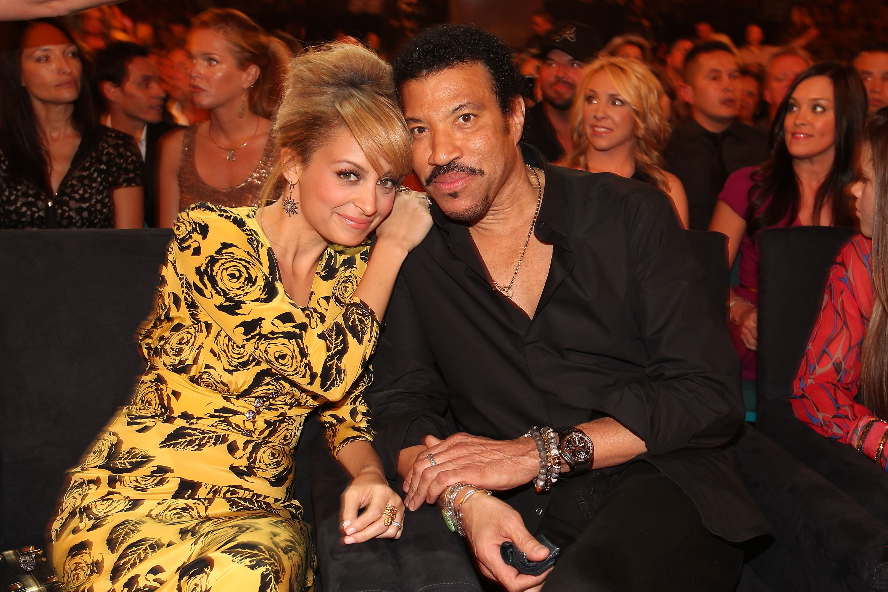 Nicole Richie and singer Lionel Richie attend Lionel Richie and Friends in Concert presented by ACM held at the MGM Grand Garden Arena in Las Vegas on April 2, 2012.