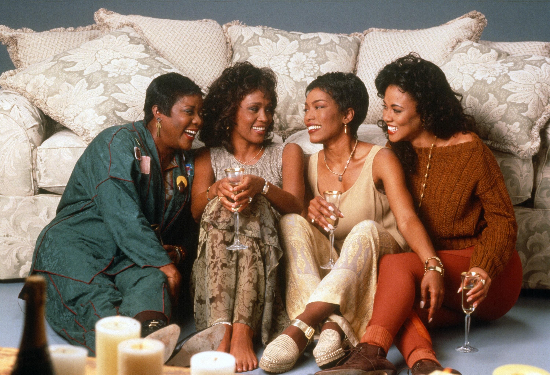 "Loretta Devine, Whitney Houston, Angela Bassett and Lela Rochon in 1995's ""Waiting to Exhale."""