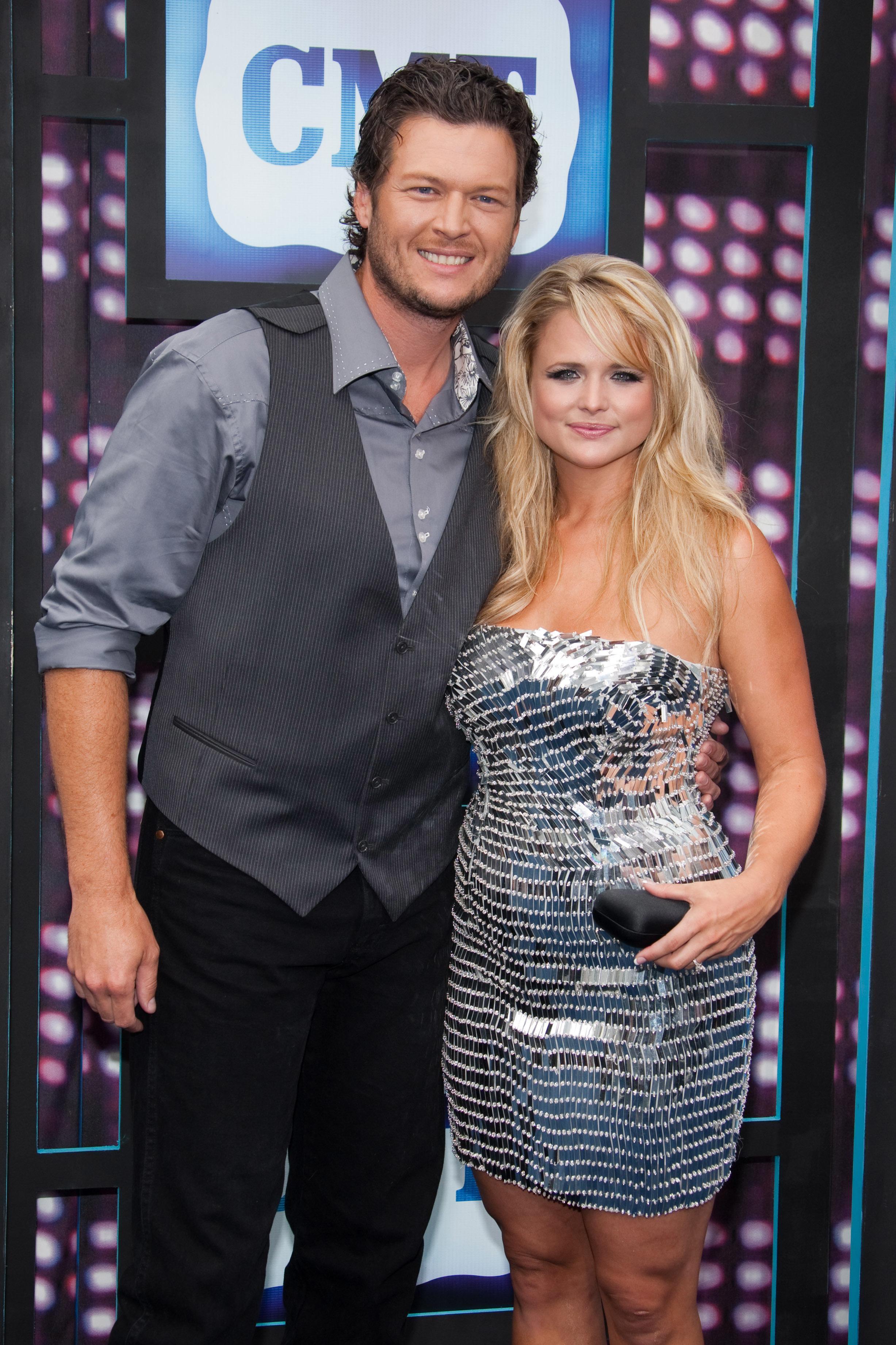 Blake Shelton and Miranda Lambert attend the CMT Music Awards in Nashville, Tennessee, on June 9, 2010.