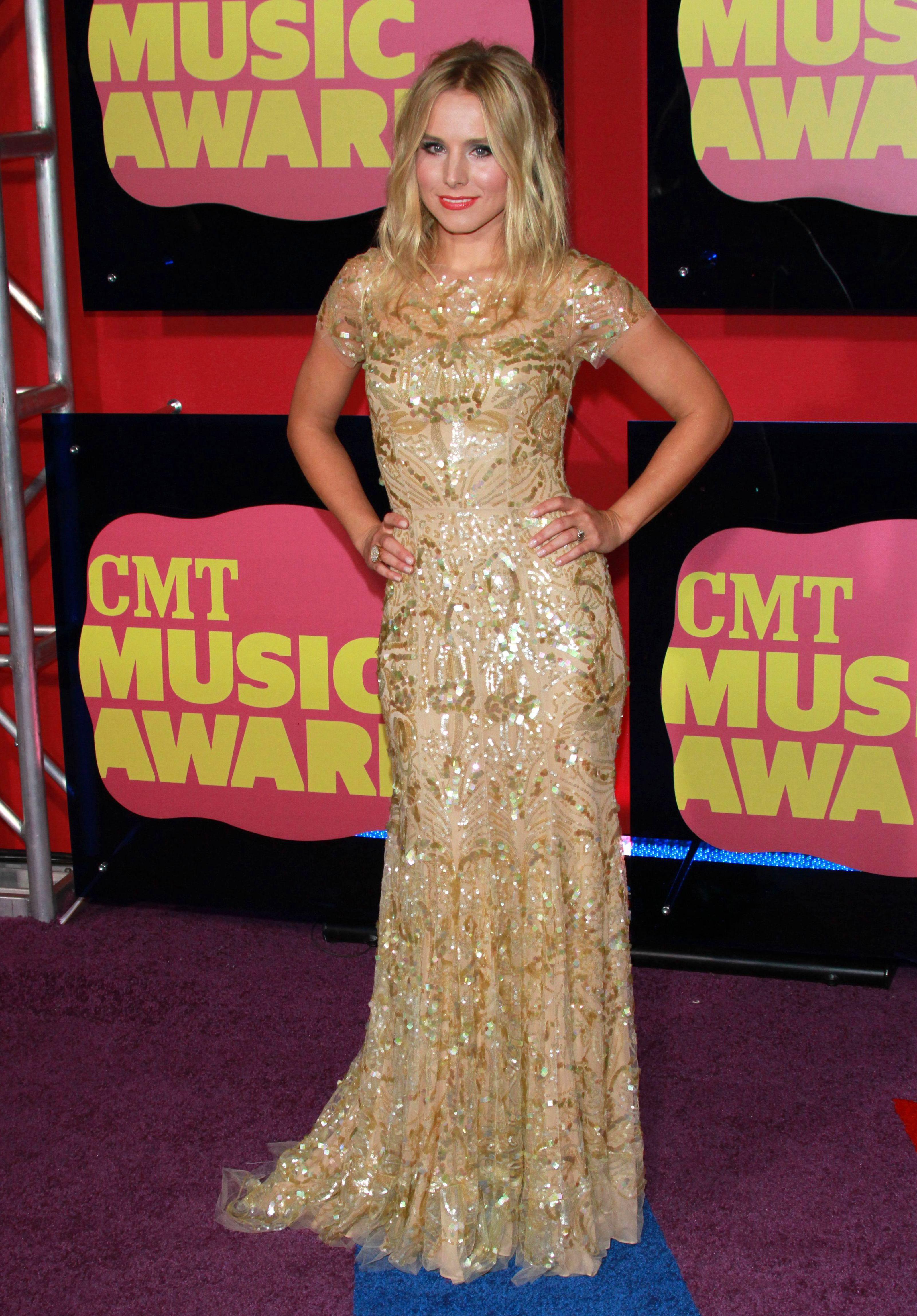Kristen Bell attends the CMT Music Awards in Nashville, Tennessee, on June 6, 2012.