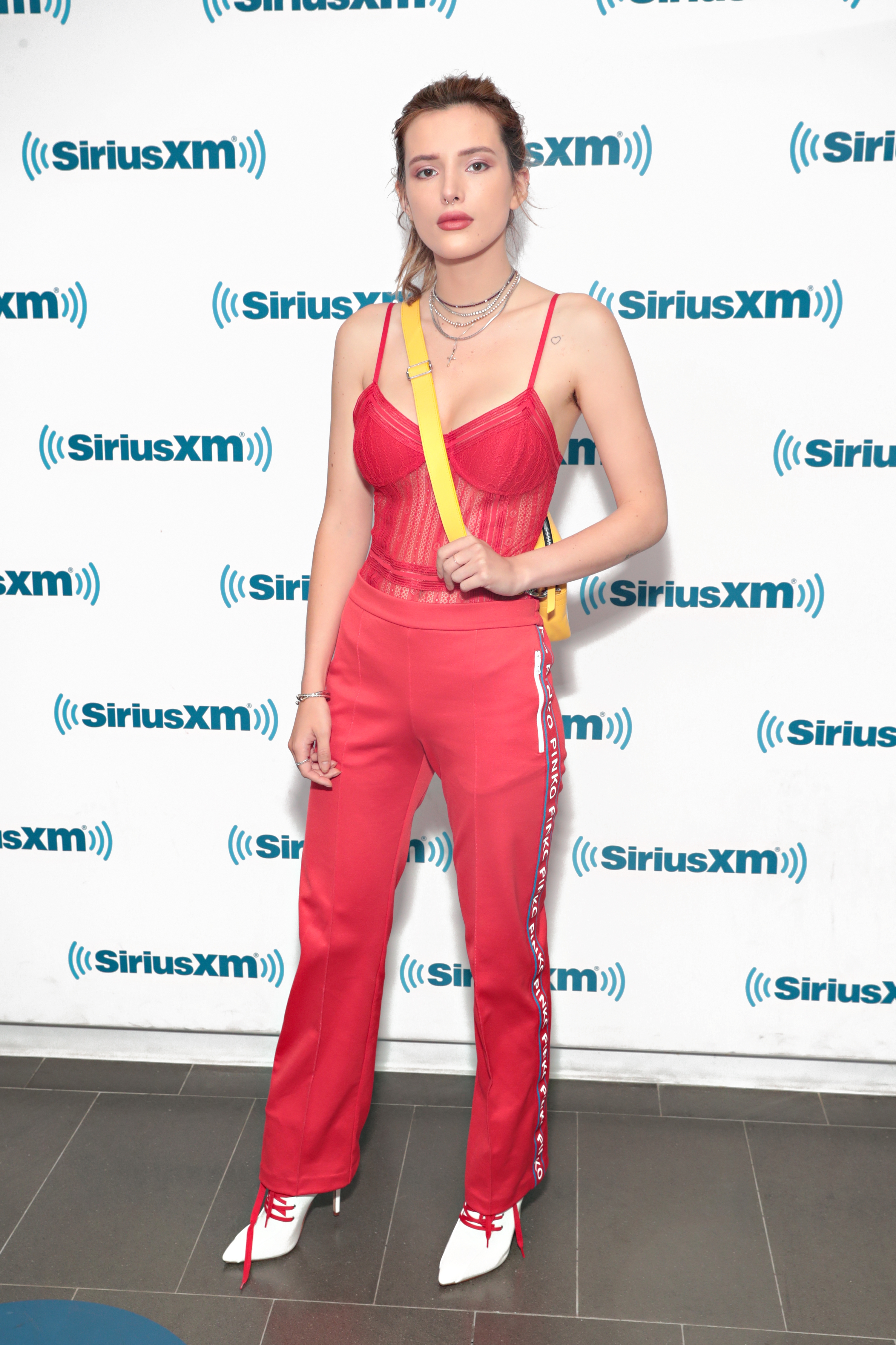 Bella Thorne visits the SiriusXM Studios in New York City on May 24, 2018.