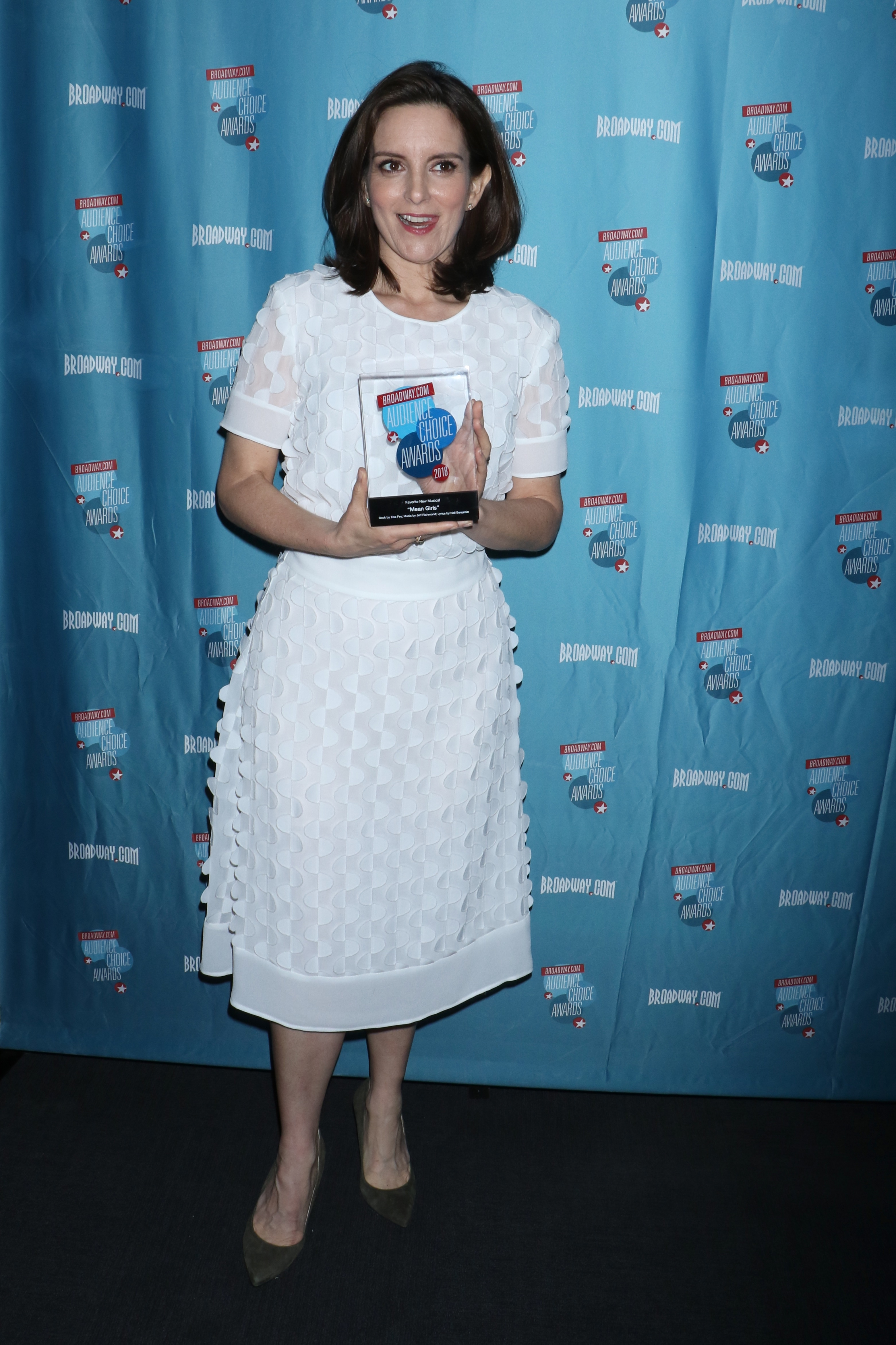 Tina Fey attends the Broadway.com Audience Choice Awards in New York City on May 24, 2018.