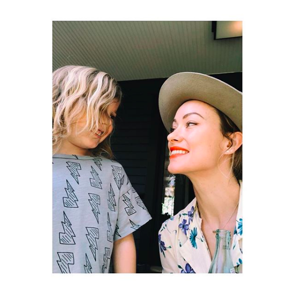 """🐣🐤""   Olivia Wilde, who posted this selfie with her son, Otis Sudeikis, on Instagram on May 27, 2018."