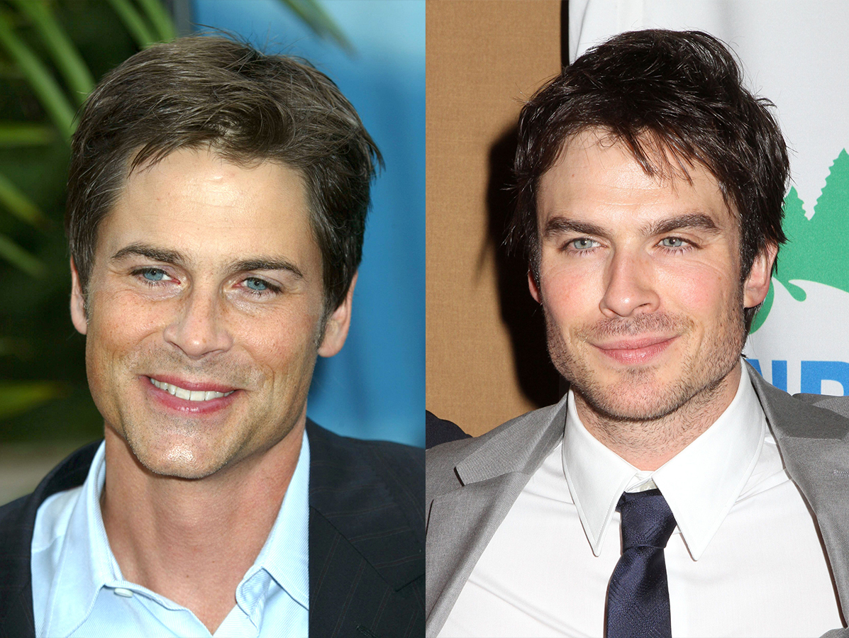 Rob Lowe attends CBS Upfronts in New York City on May 19, 2004. /  Ian Somerhalder attends the NRDC Game Changers Awards in New York City on March 14, 2013.