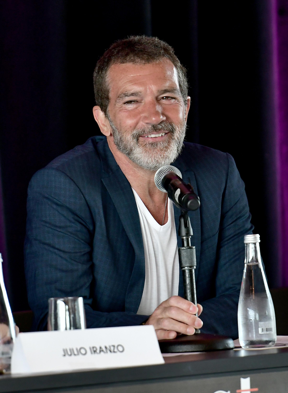 Antonio Banderas attends the Miami Fashion Week Press Conference in Miami on May 30, 2018.