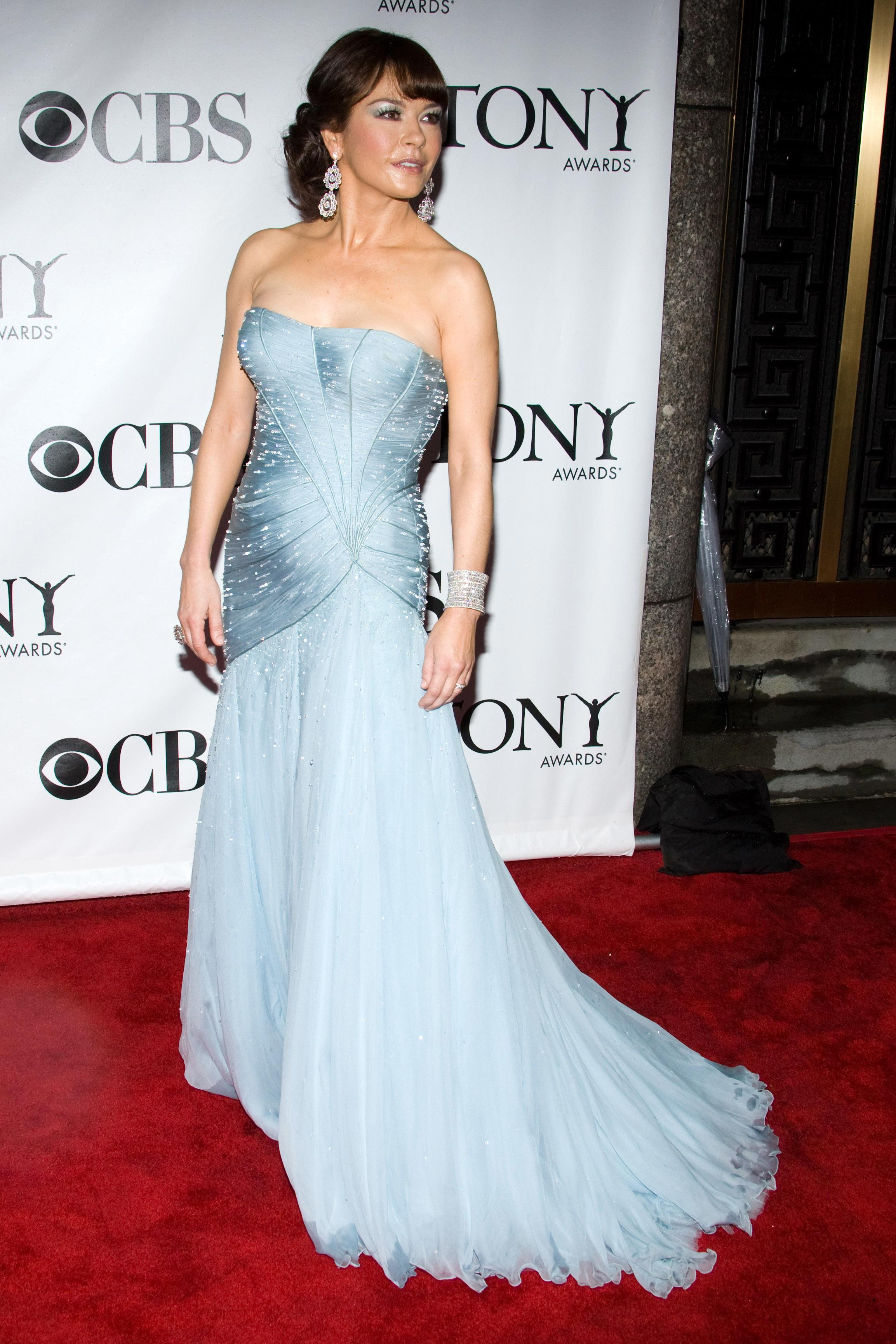 Catherine Zeta Jones attends the 64th Annual Tony Awards in New York City on June 13, 2010.