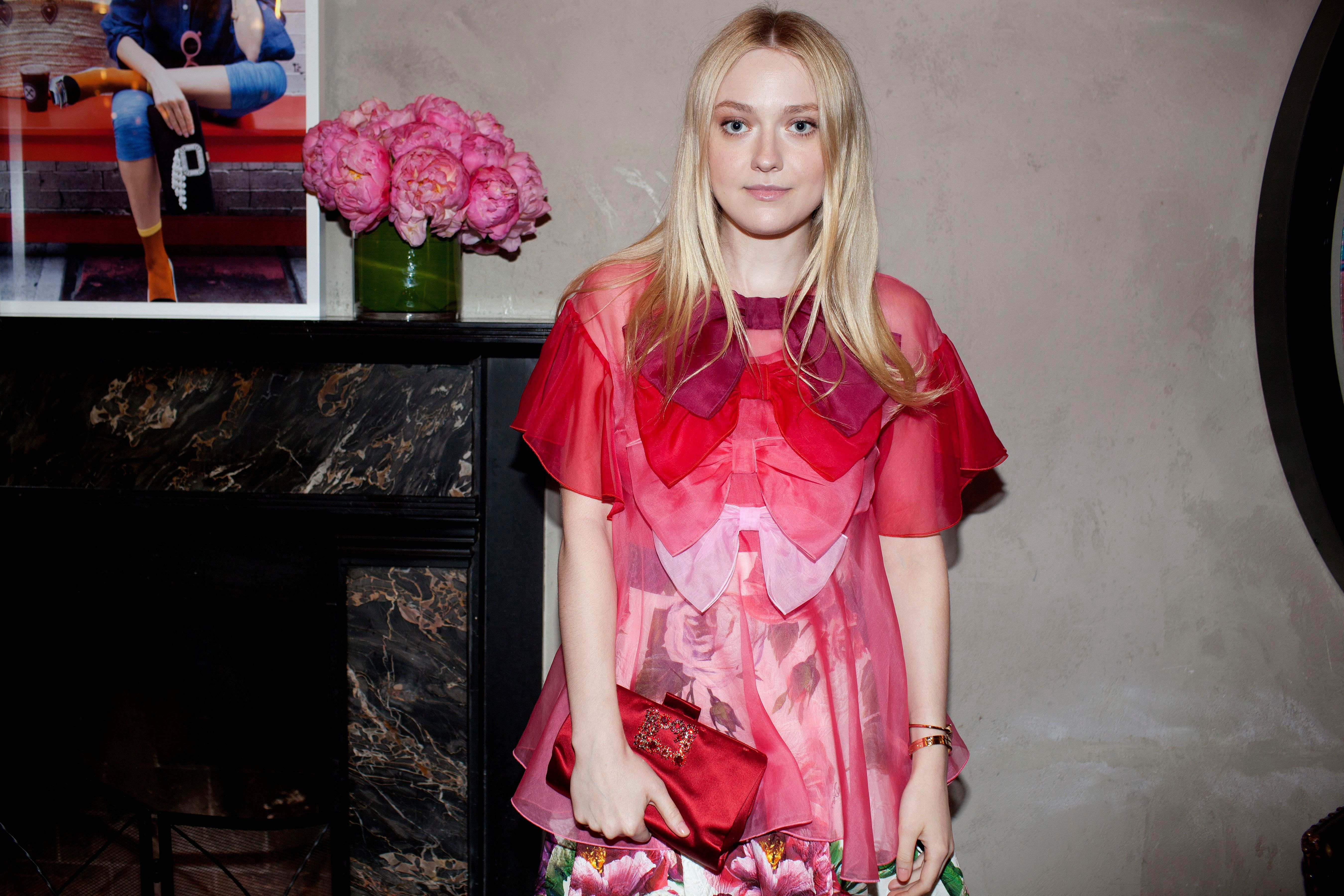 Dakota Fanning attends the Roger Vivier '#LoveVivier' Book Launch in New York City on May 31, 2018.