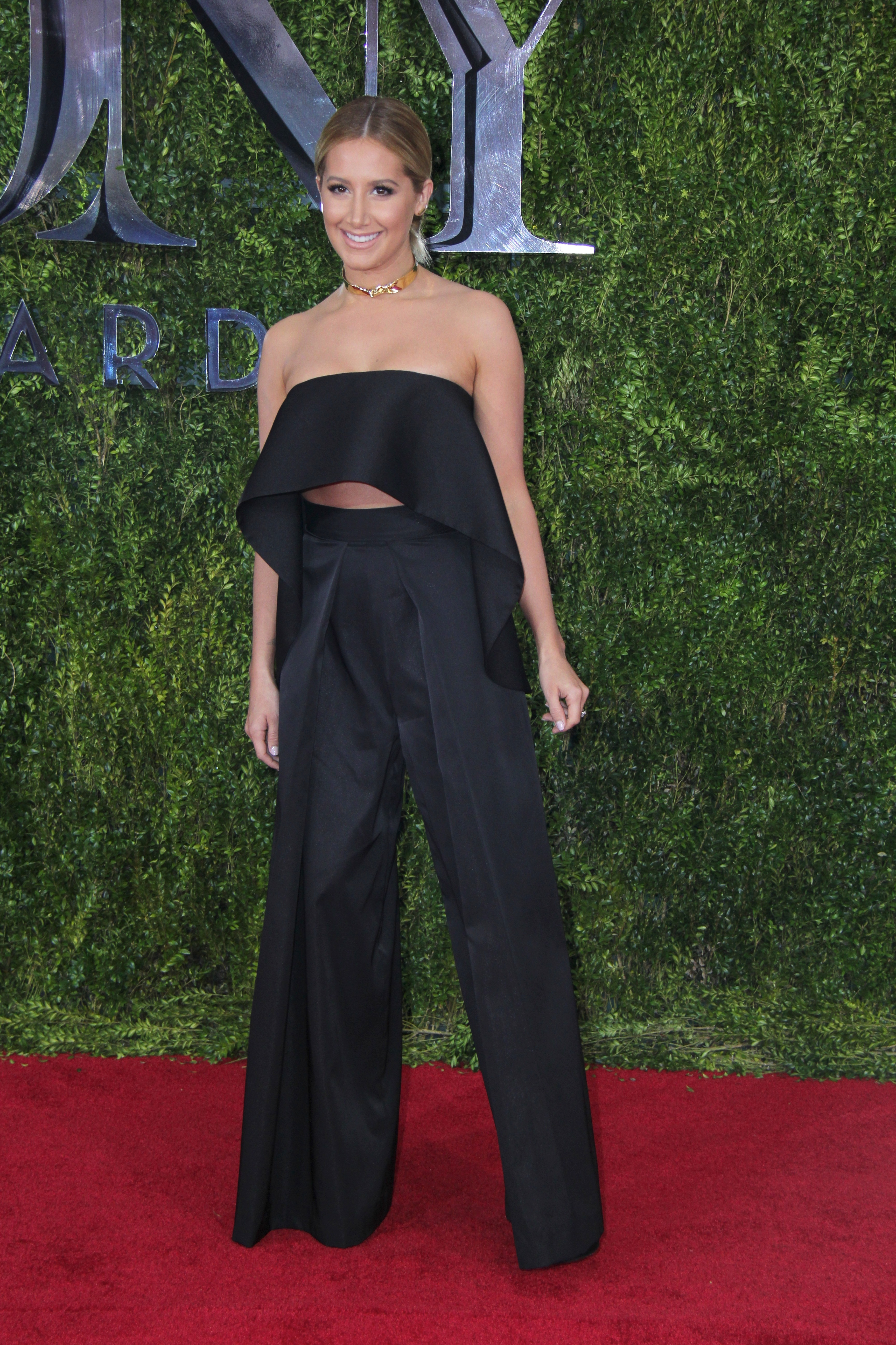 Ashley Tisdale arrives at the 69th annual Tony Awards at Radio City Music Hall in New York City on June 7, 2015.