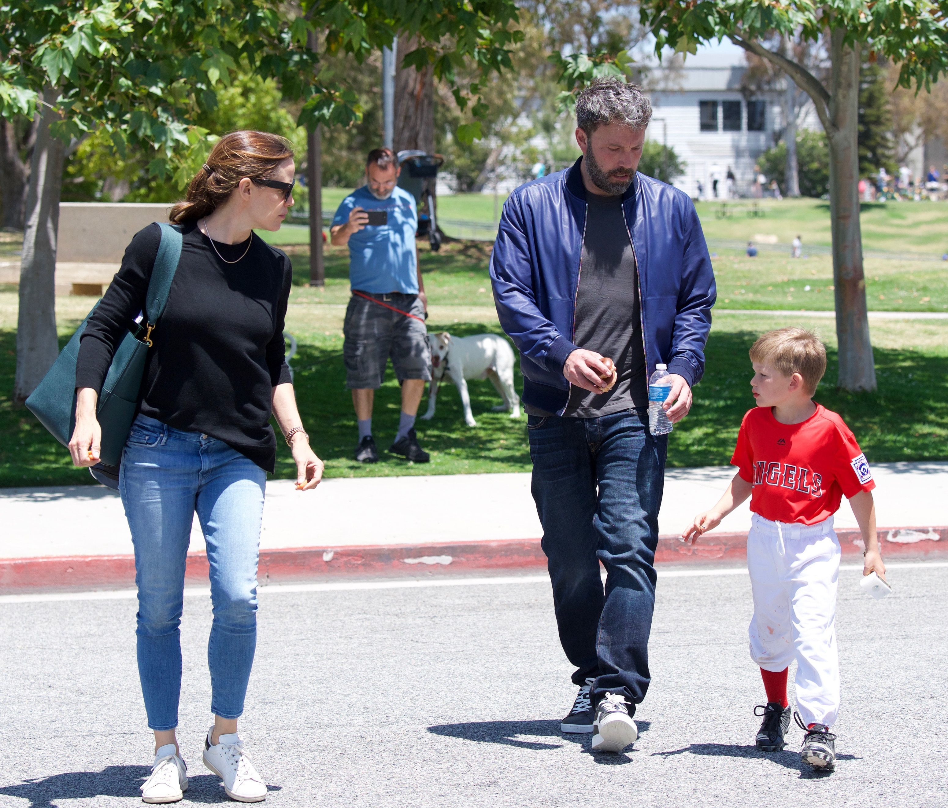 Jennifer Garner, Samuel Affleck and Ben Affleck are spotted out and about in Los Angeles on June 2, 2018.