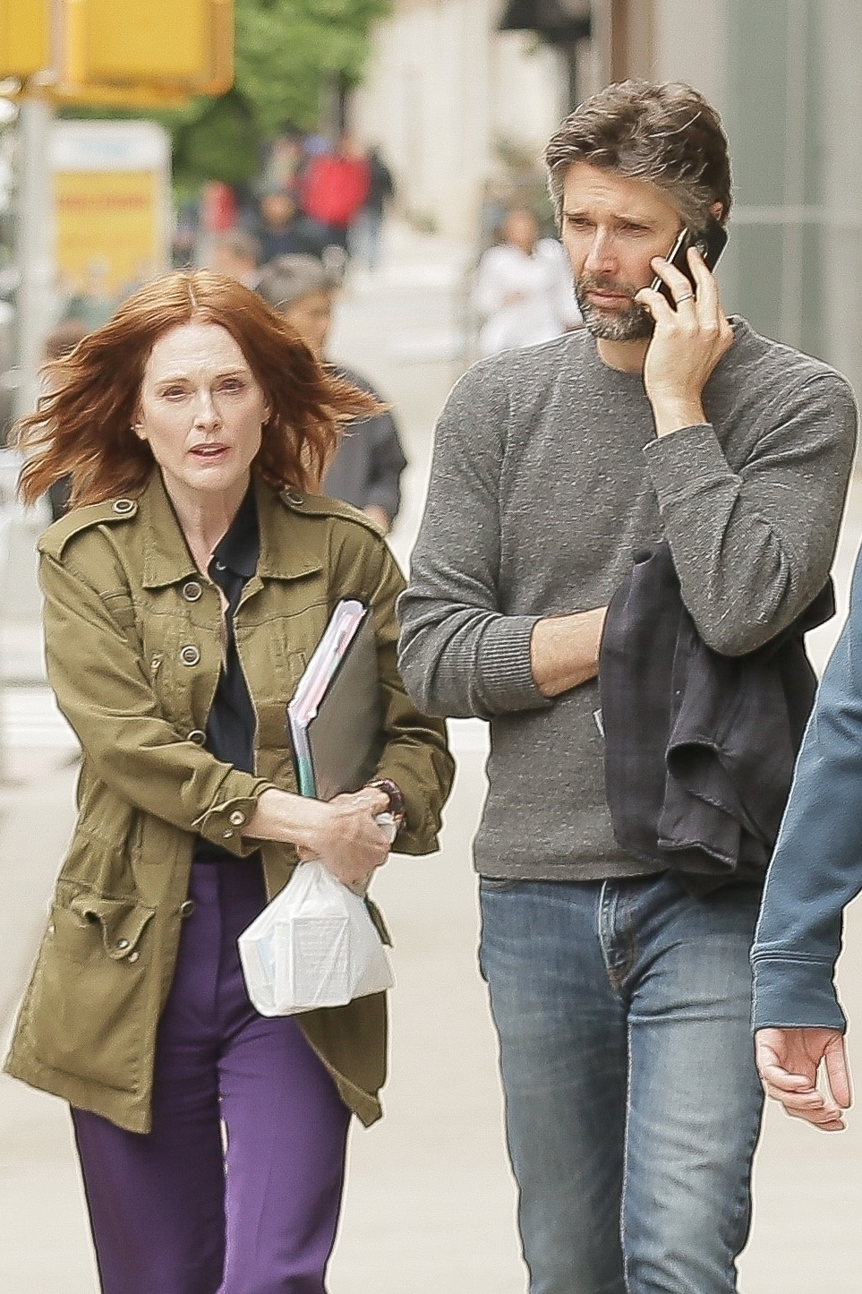 Julianne Moore and  her husband, Bart Freundlich, were snapped as they stepped out in the West Village neighborhood of New York City on June 4, 2018.