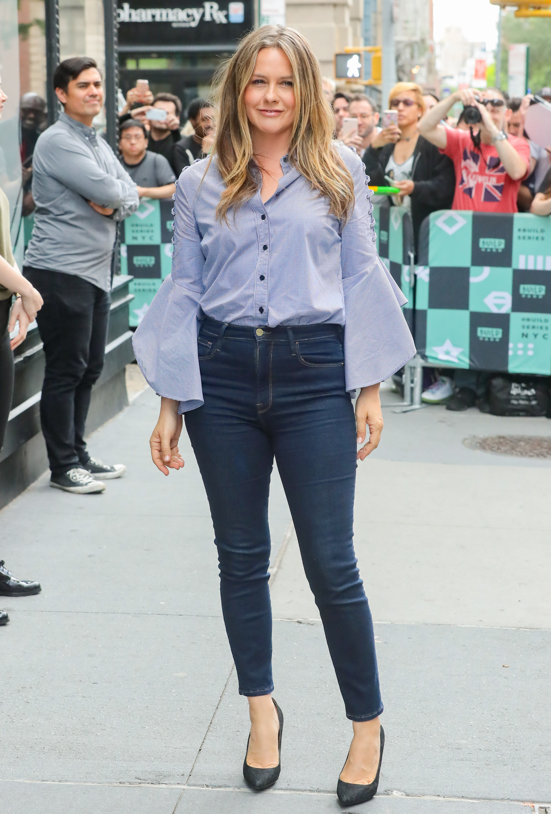 Alicia Silverstone is spotted at the AOL Build Speaker Series in New York CIty on June 5, 2018.