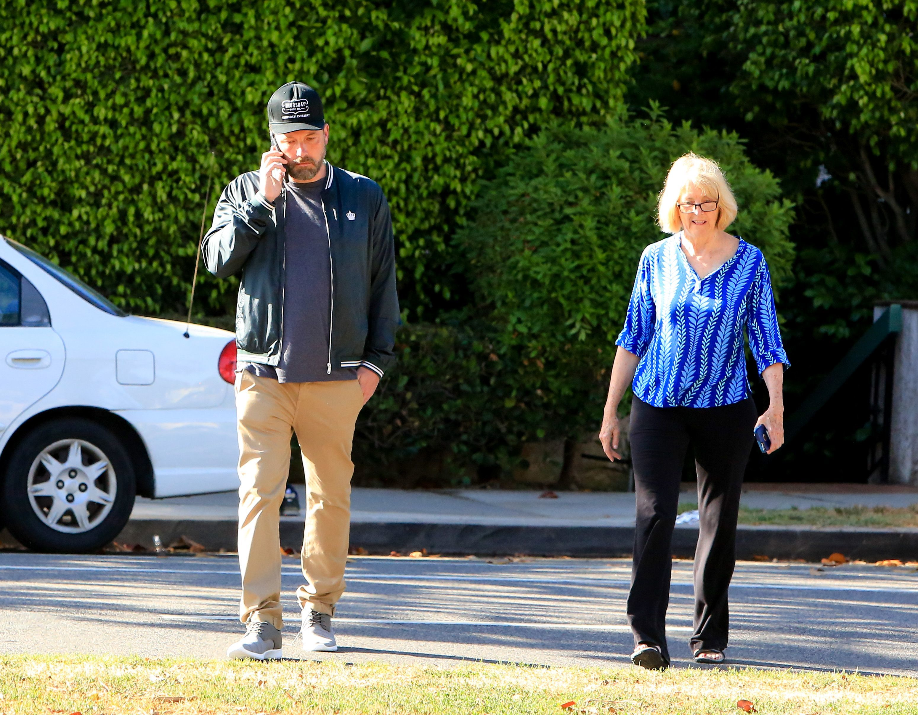 Ben Affleck and his mom, Christine Anne Boldt, step out in Los Angeles on June 11, 2018.