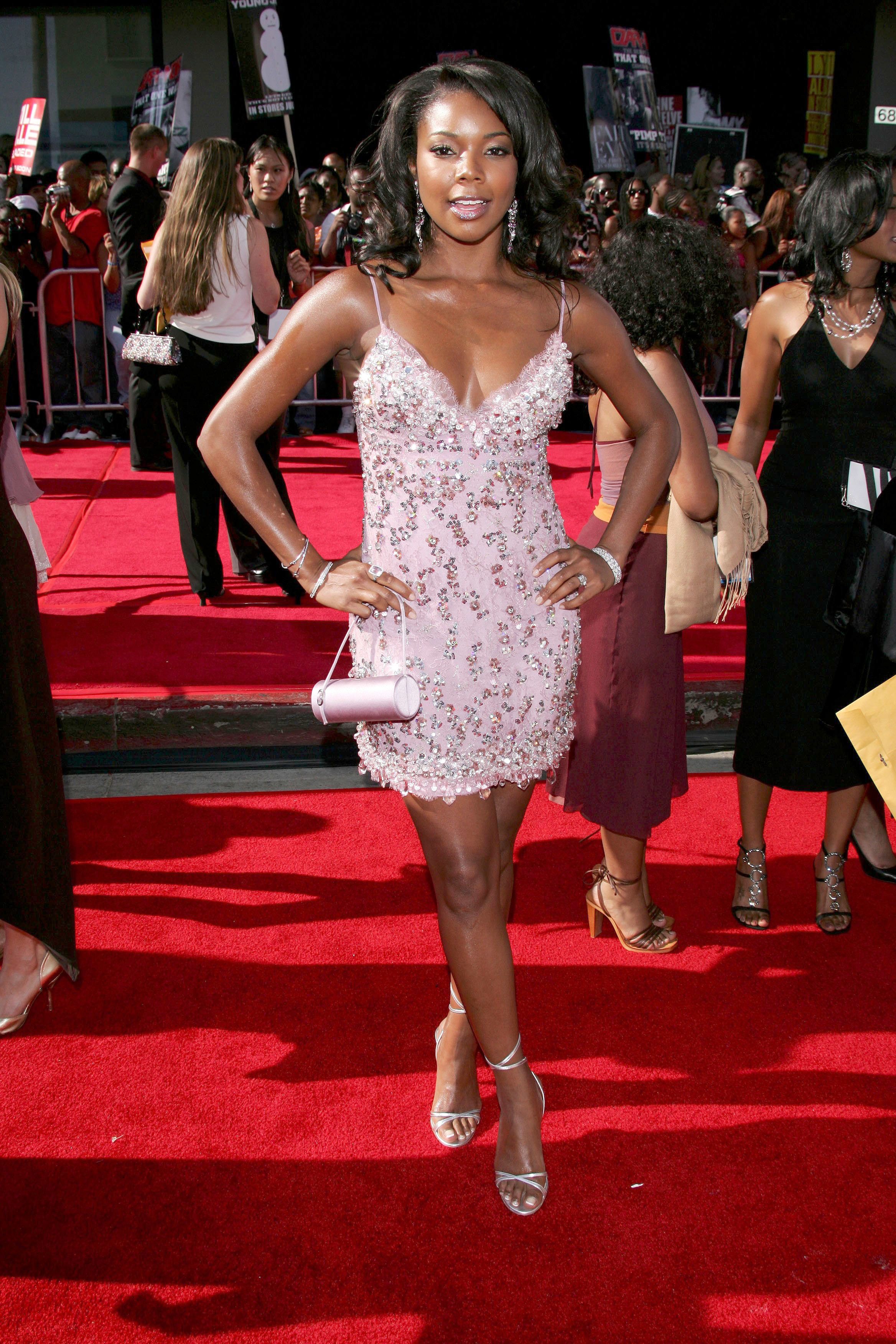 Gabrielle Union attends the BET Awards in Los Angeles on June 28, 2005.