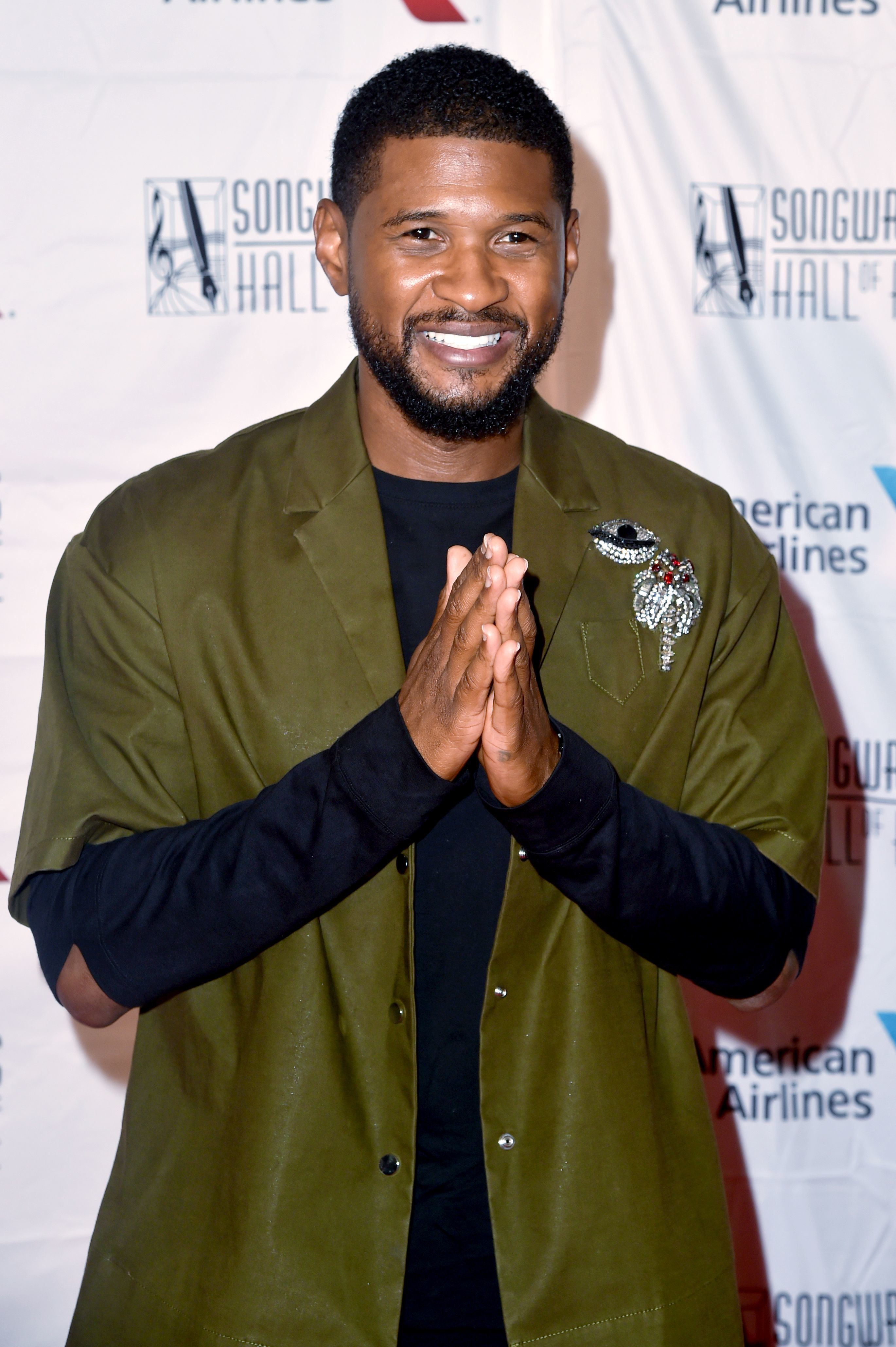 Usher attends the 49th Annual Songwriters Hall of Fame Gala in New York City on June 14, 2018.