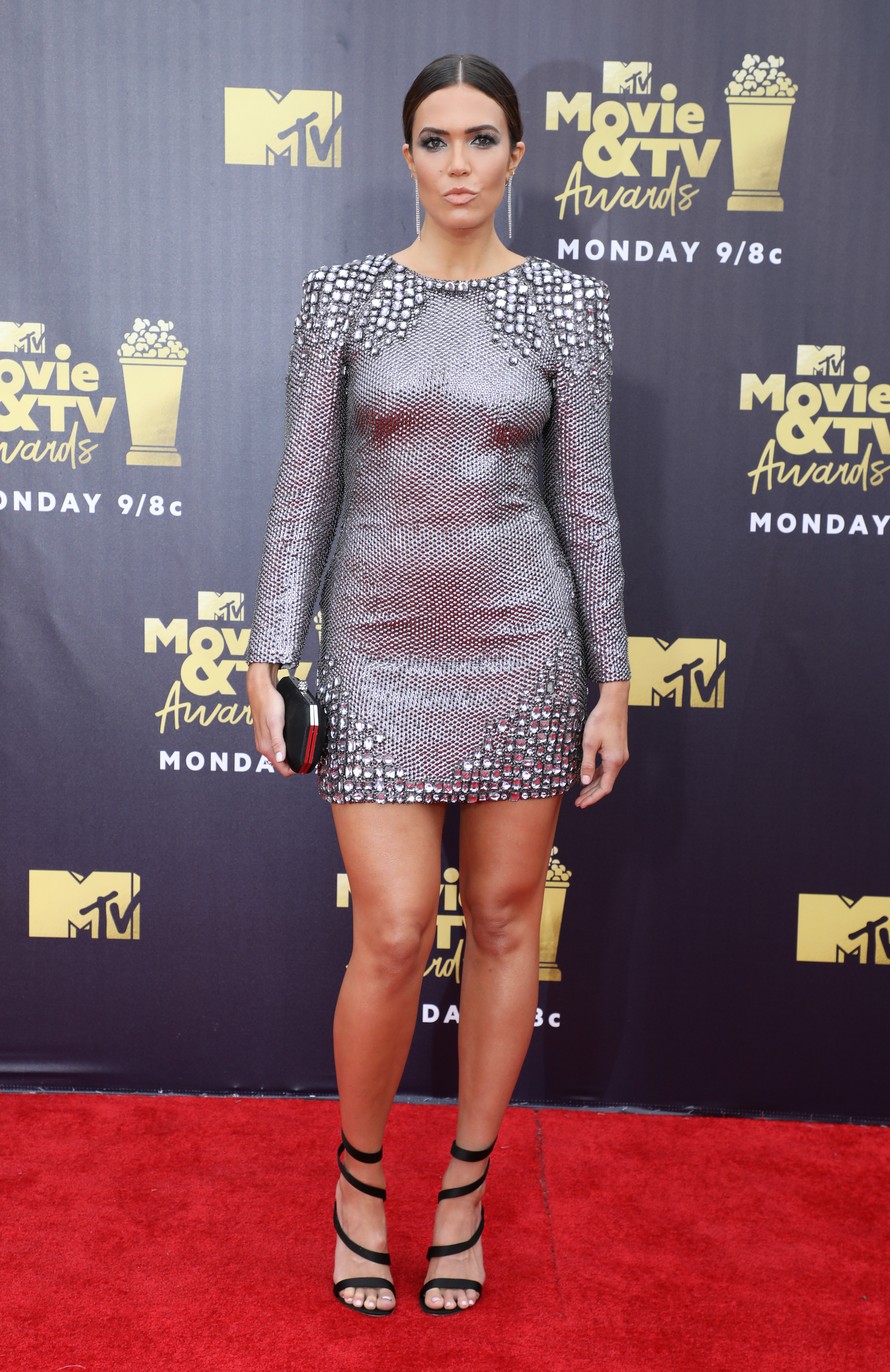 Mandy Moore attends the MTV Movie & TV Awards in Los Angeles on June 16, 2018.