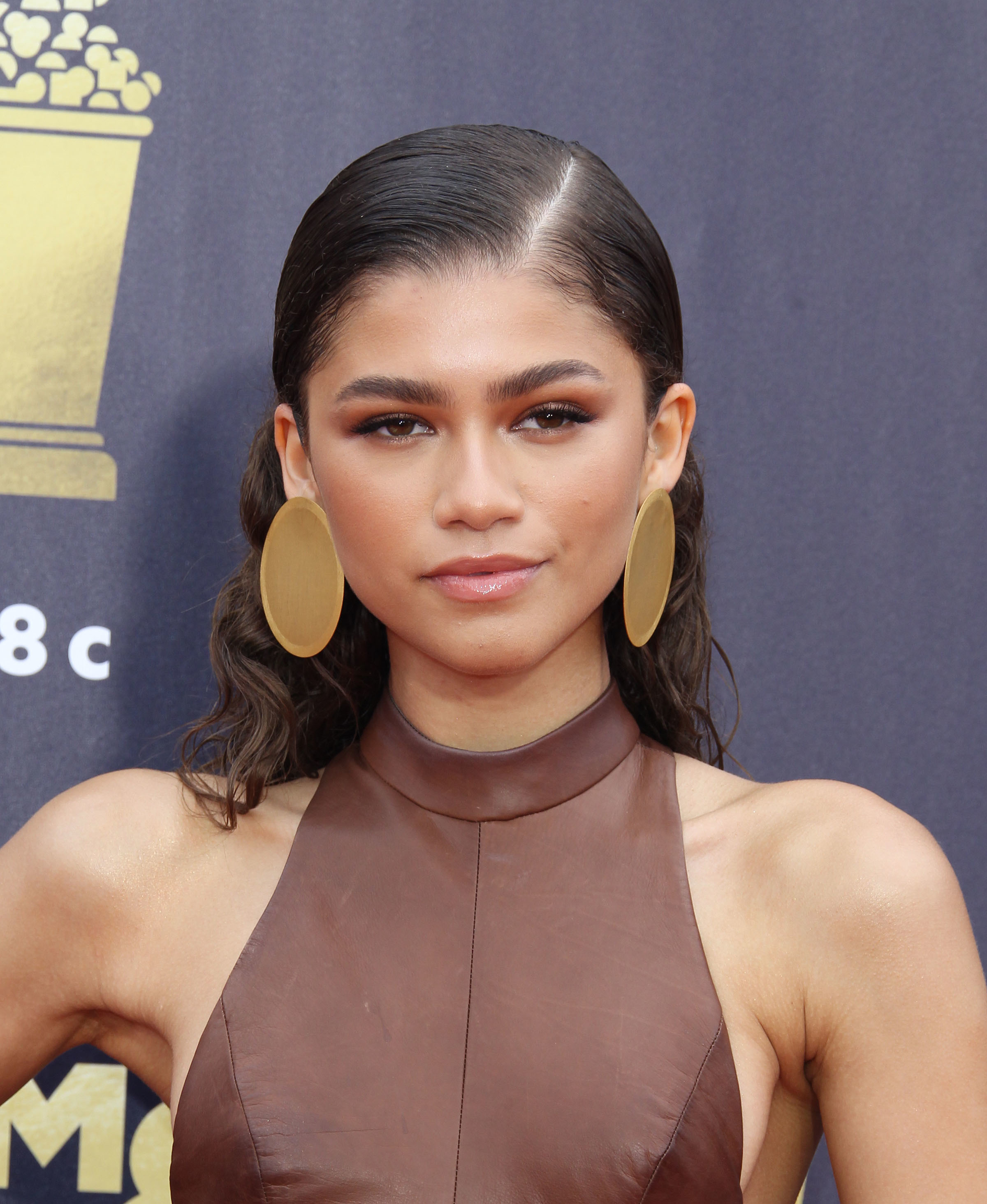 Zendaya attends the MTV Movie & TV Awards in Los Angeles on June 16, 2018.