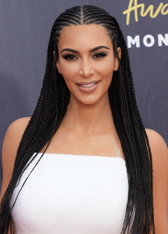 Kim Kardashian attends the MTV Movie & TV Awards in Los Angeles on June 16, 2018.