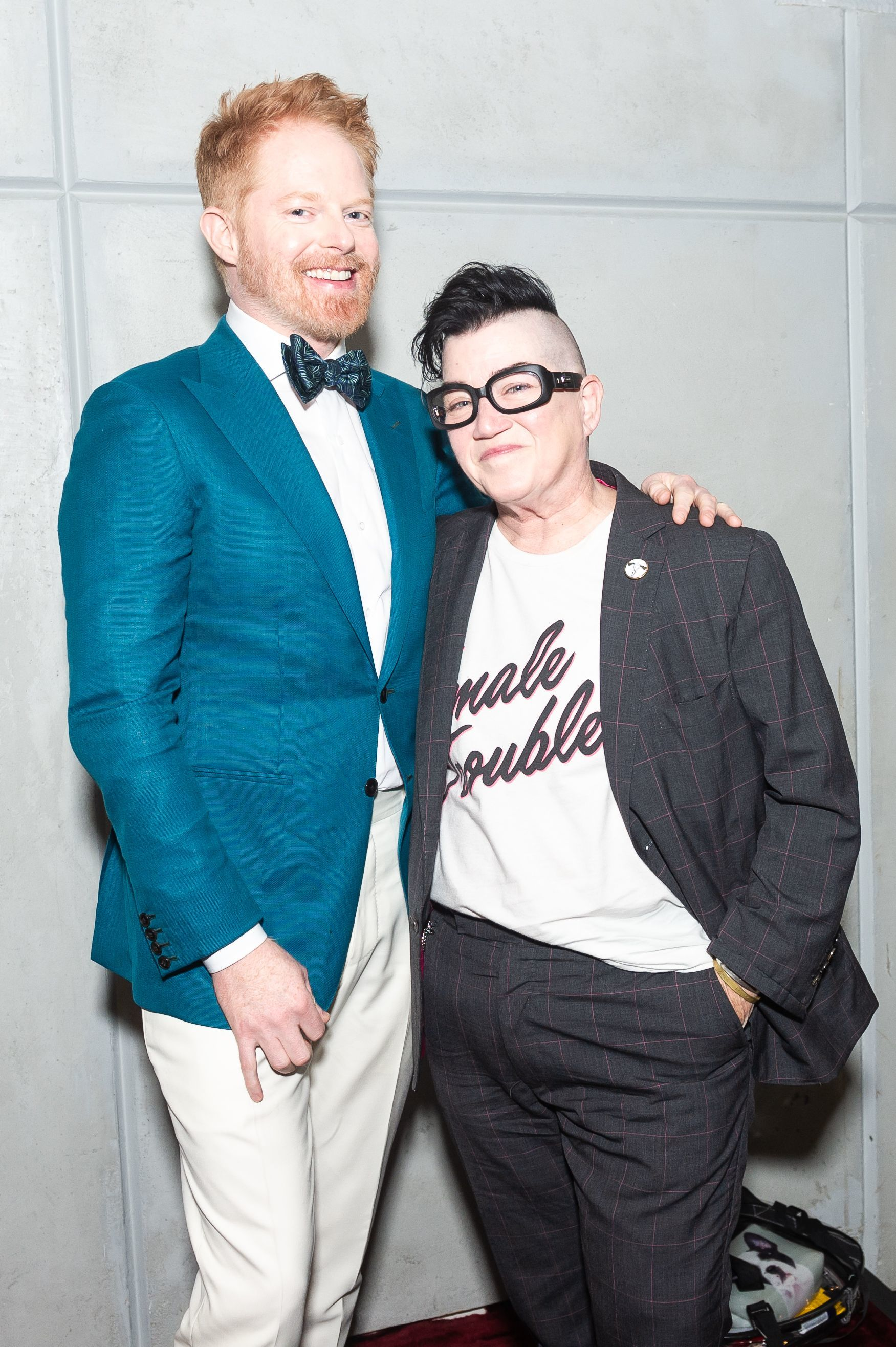 Jesse Tyler Ferguson and Lea DeLaria attend the Chappy x Spring: Panel & Cocktail in New York City on June 18, 2018.