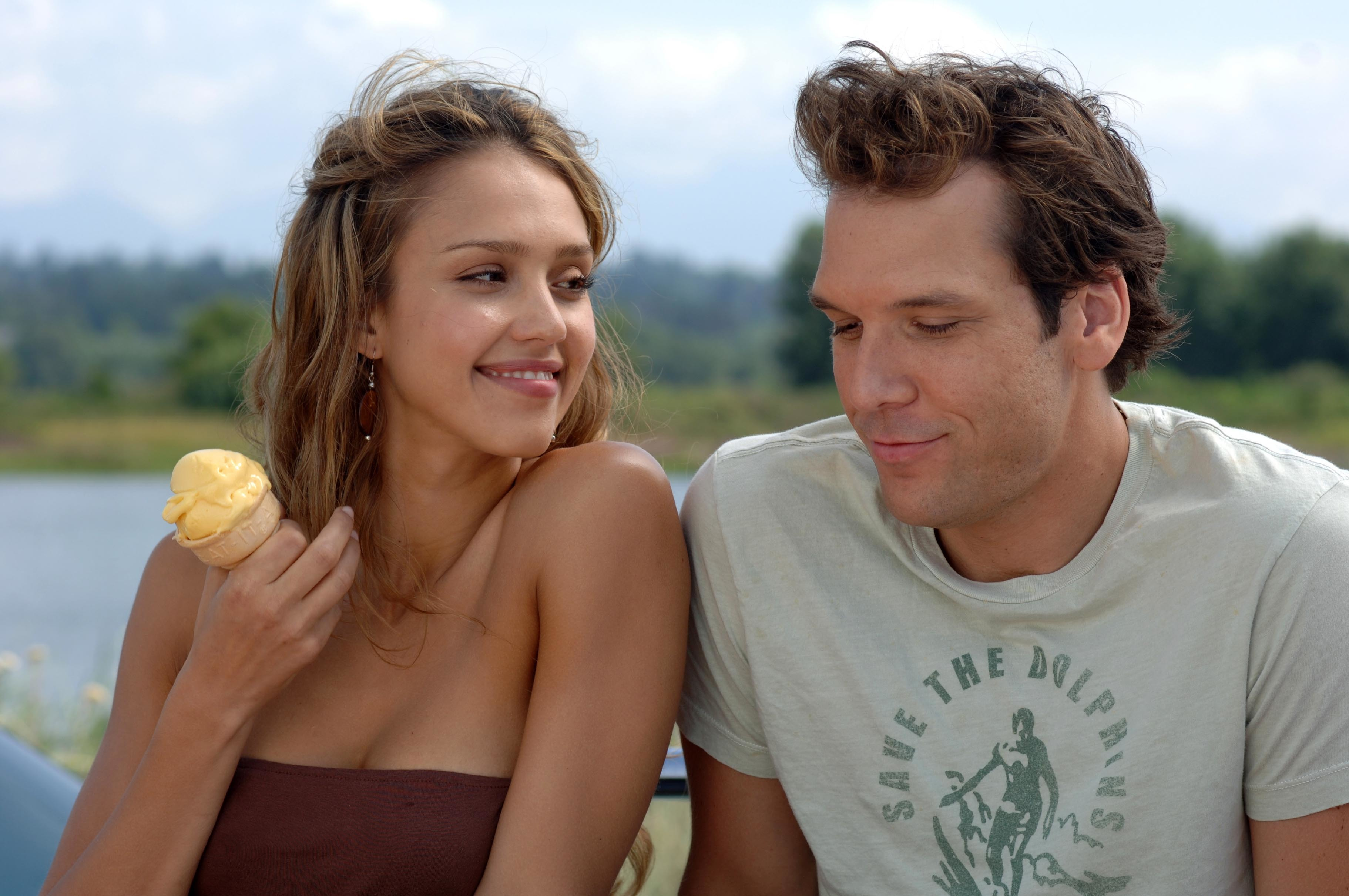 "Jessica Alba and Dane Cook in 2007's ""Good Luck Chuck."""