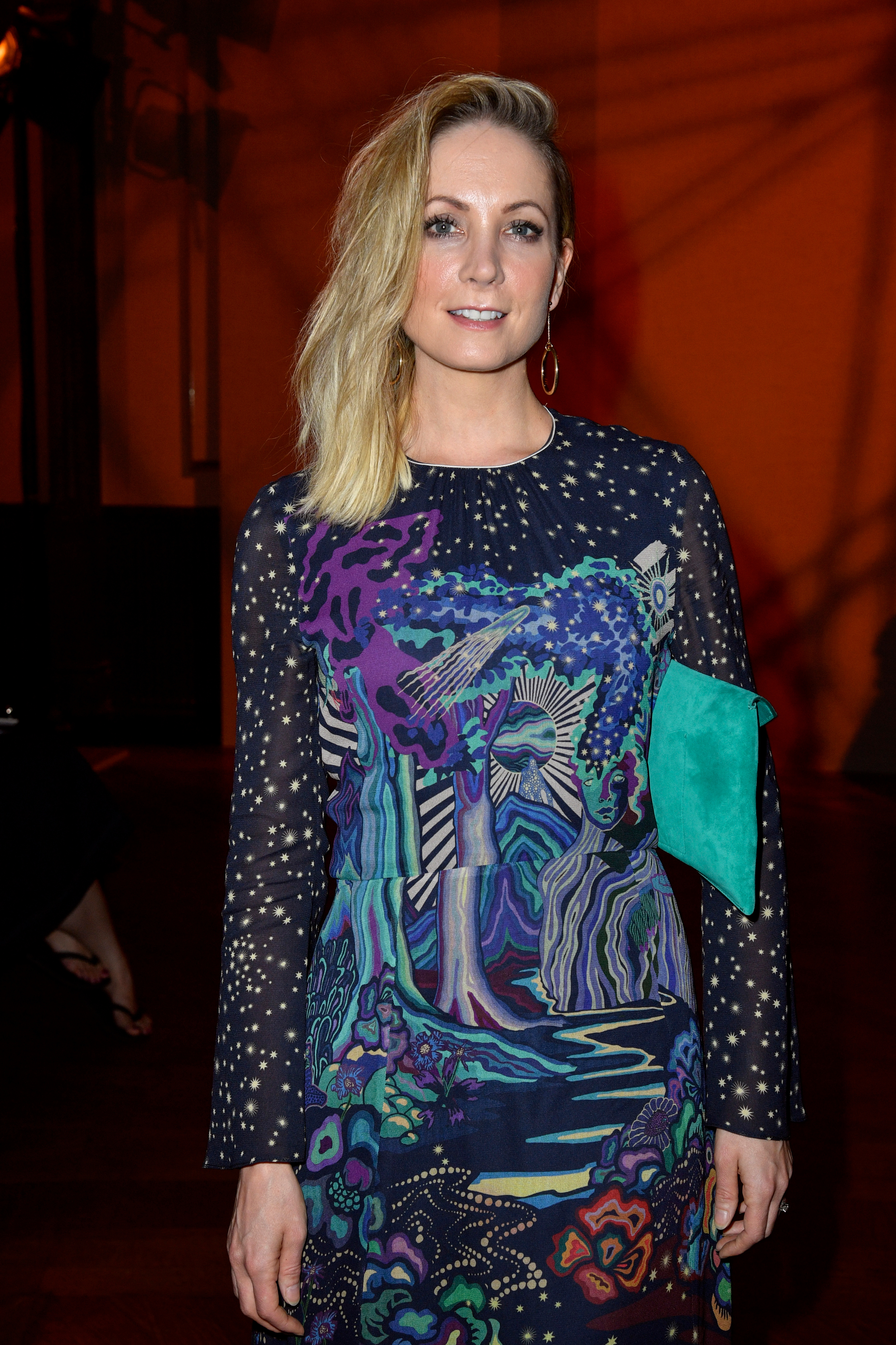Joanne Froggatt appears in the front row of the Paul Smith show for Spring/Summer 2019 at Paris Fashion Week Men's on June 24, 2018.