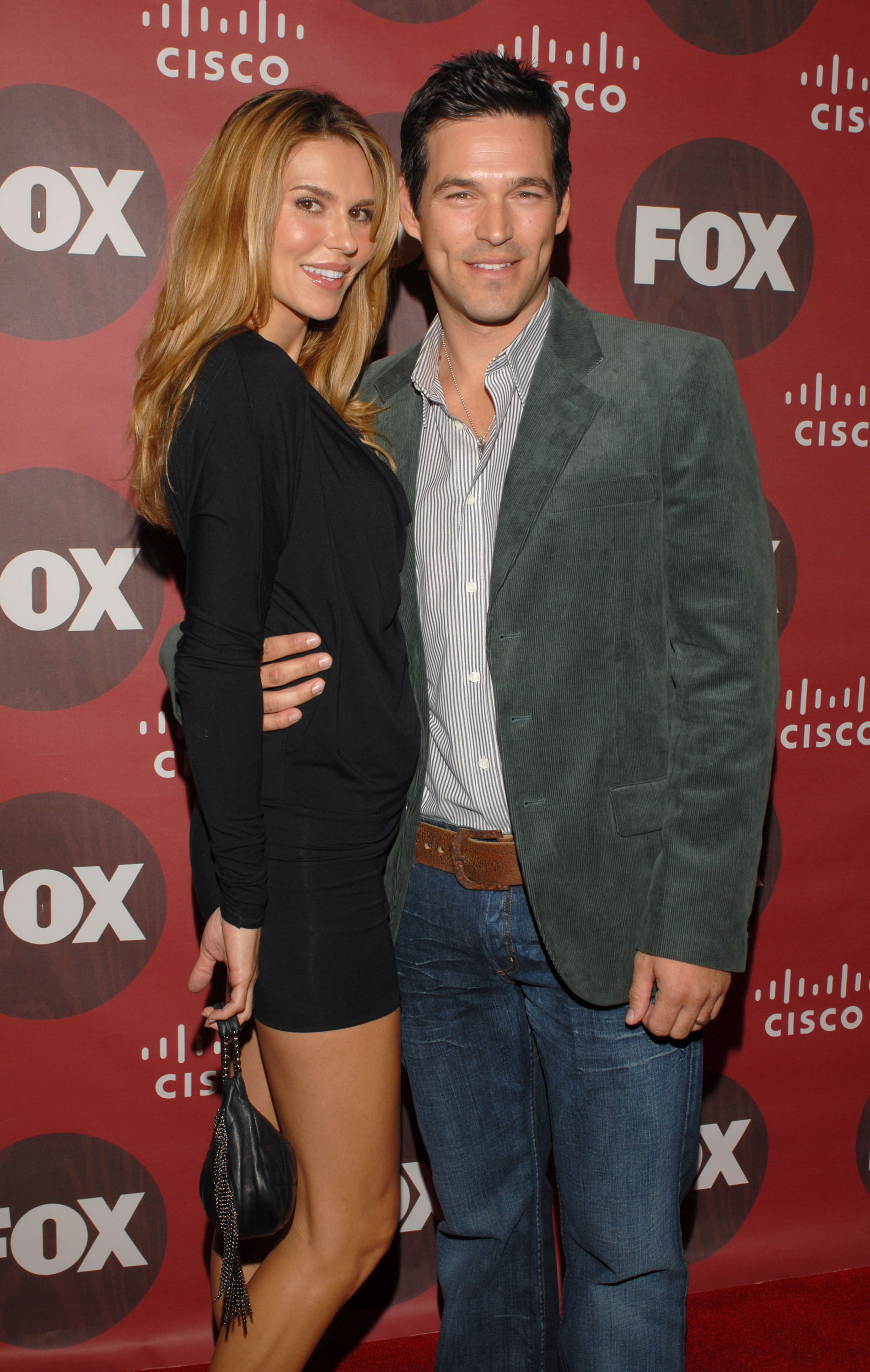 Brandi Glanville and Eddie Cibrian attend an event for Fox in Los Angeles on Oct. 23, 2006.