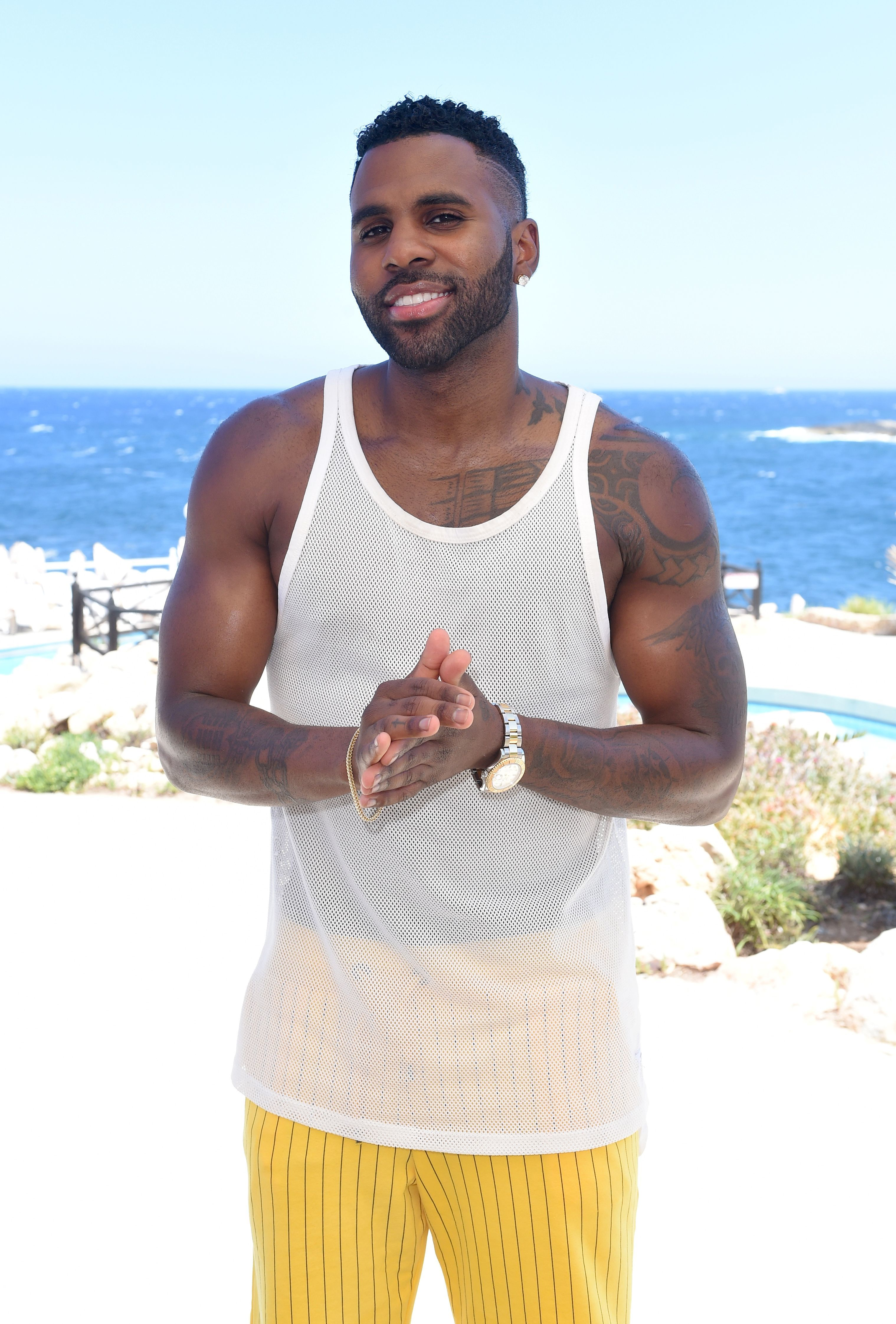 Jason Derulo appears at the Isle of MTV  press conference in Malta on June 27, 2018.