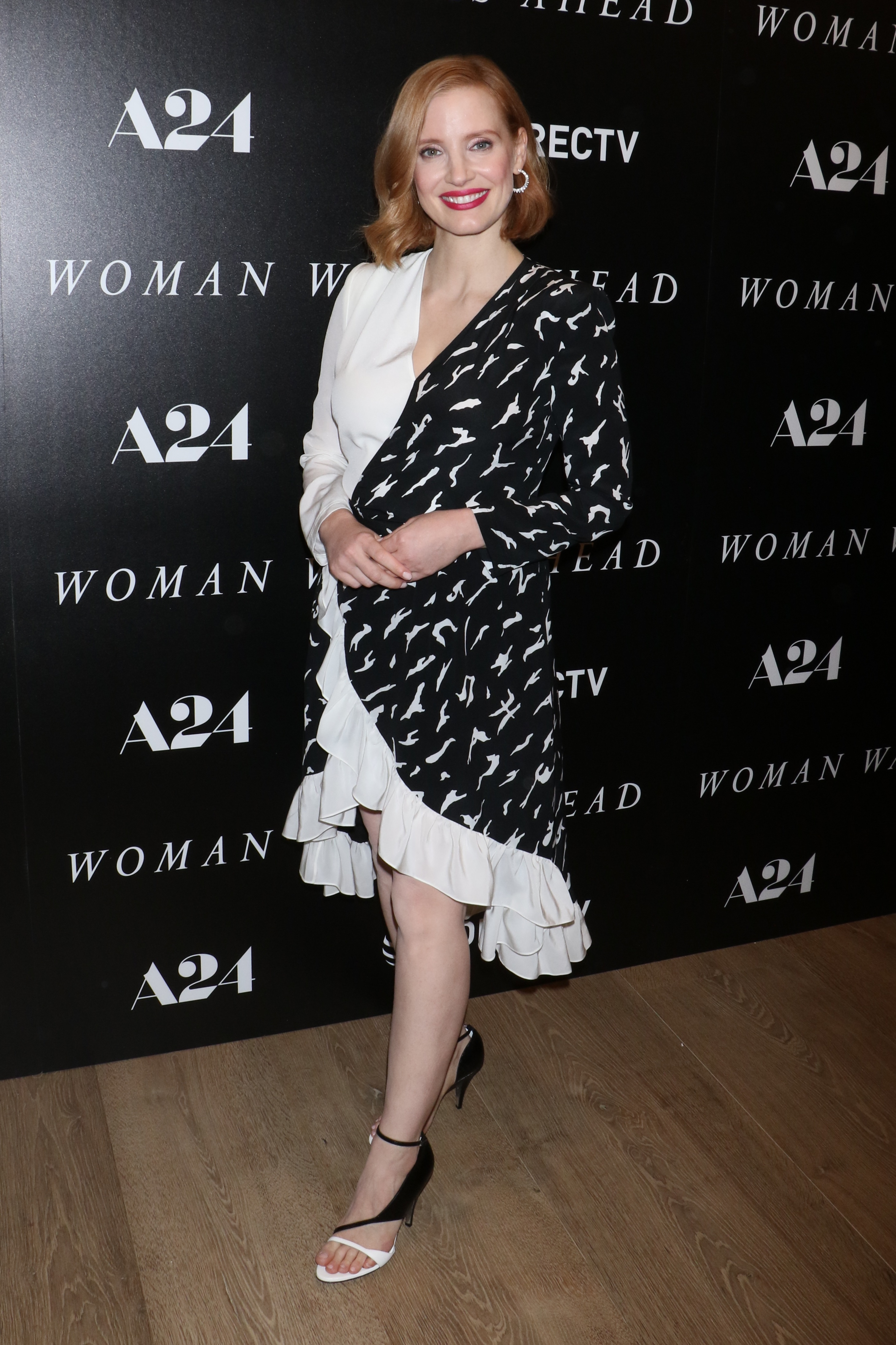 """Jessica Chastain attends the """"Woman Walks Ahead"""" film screening in New York City on June 26, 2018."""