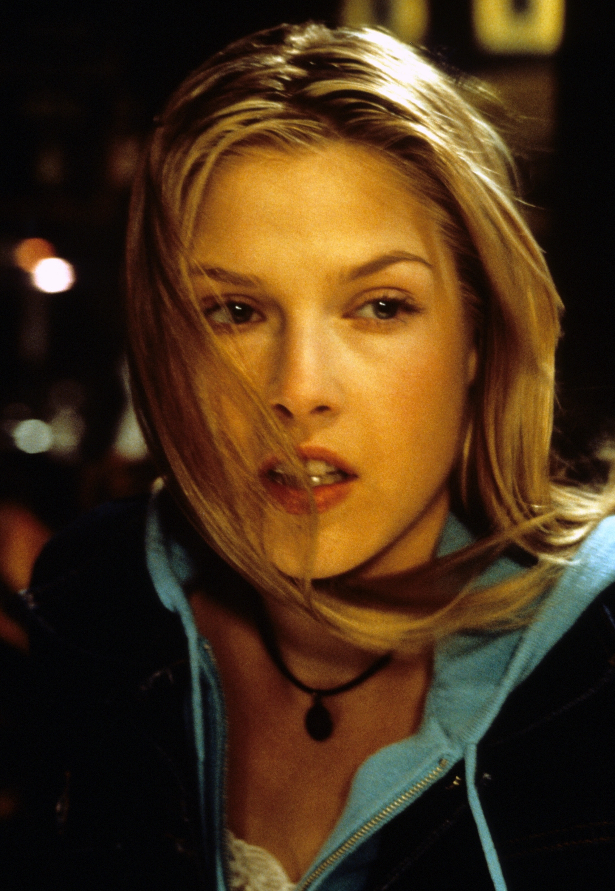 "Ali Larter is shown on the set of ""Final Destination"" in 2000."