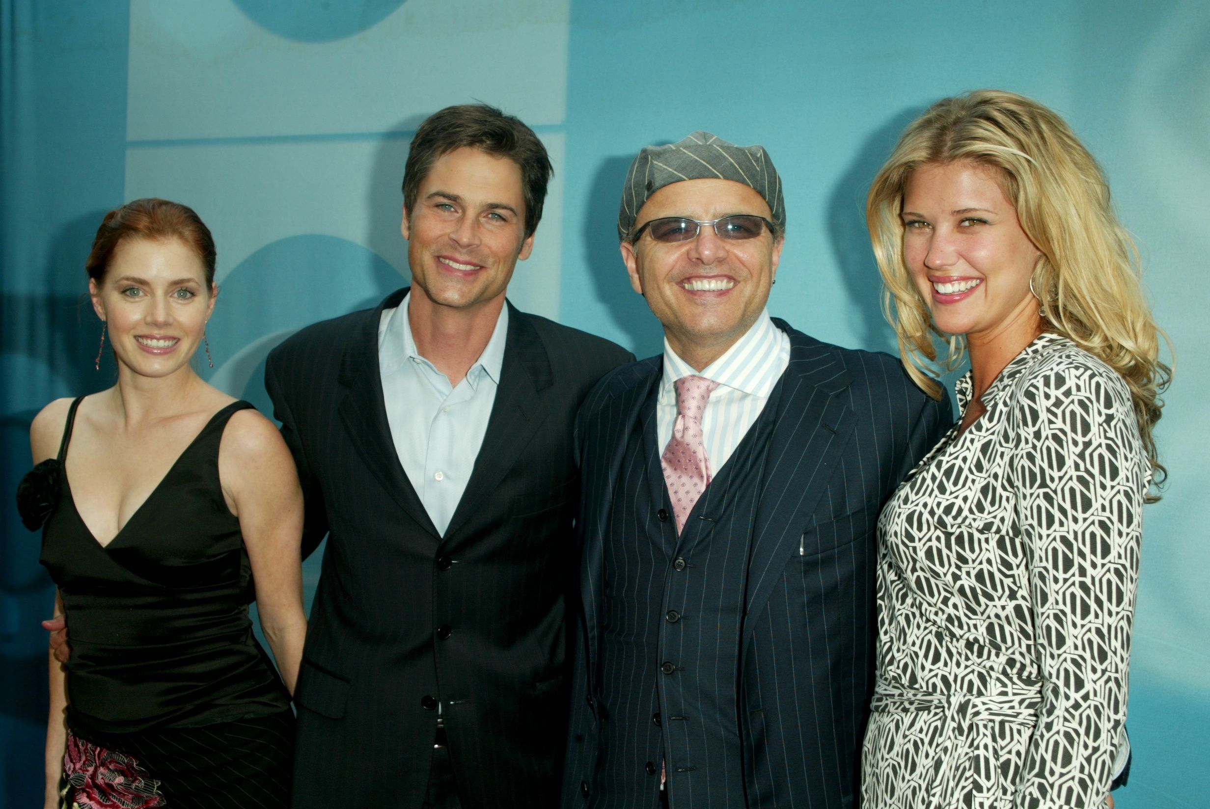 Amy Adams, Rob Lowe, Joe Pantoliano and Sarah Lancaster attends the CBS 2004 and 2005 Primetime Upfront on May 19, 2004.