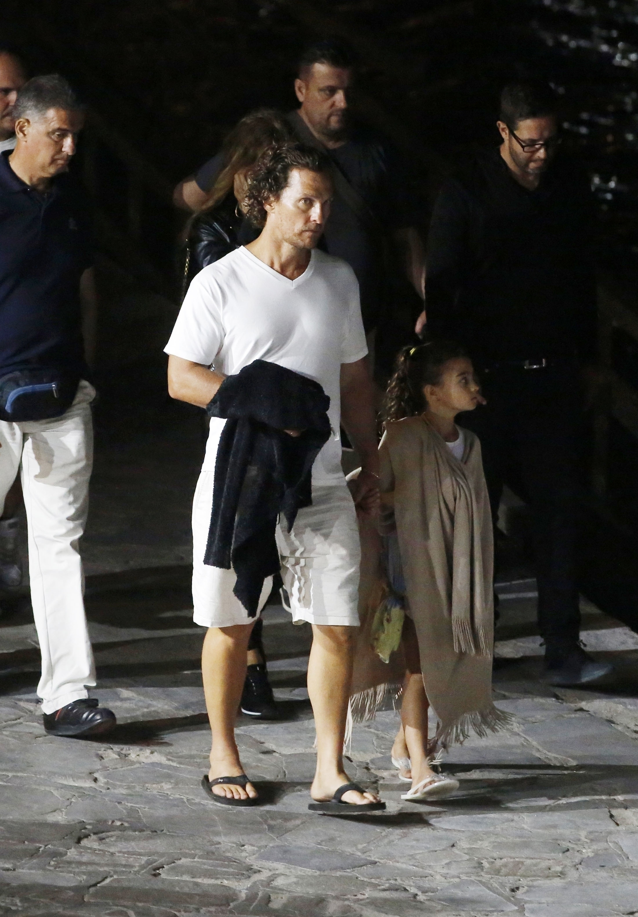 Matthew McConaughey couldn't help but play the doting dad while taking in the sights of Rome, Italy on June 24, 2018.
