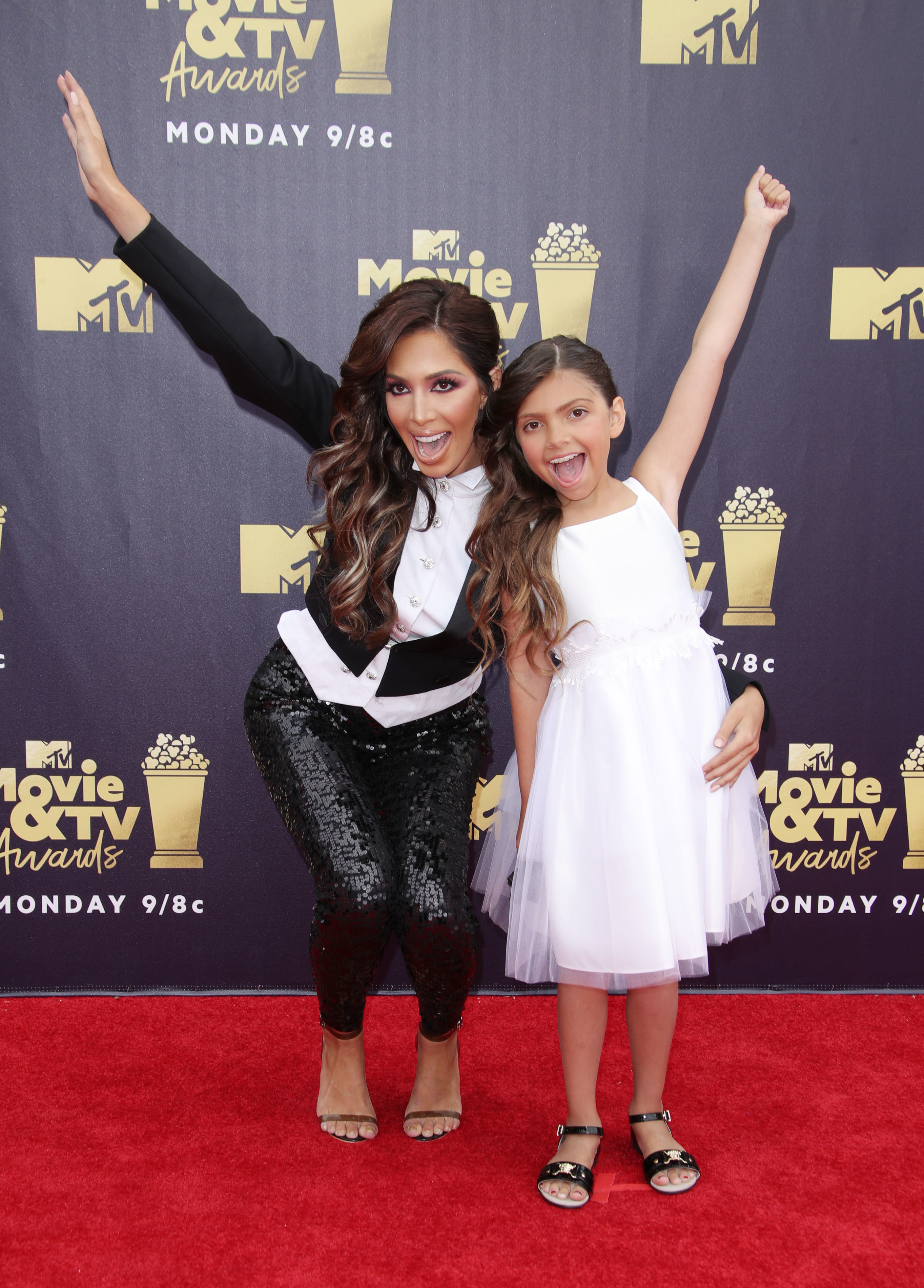 Farrah Abraham and Sophia Abraham  were all smile while attending the MTV Movie & TV Awards in Los Angeles, CA on June 16, 2018.