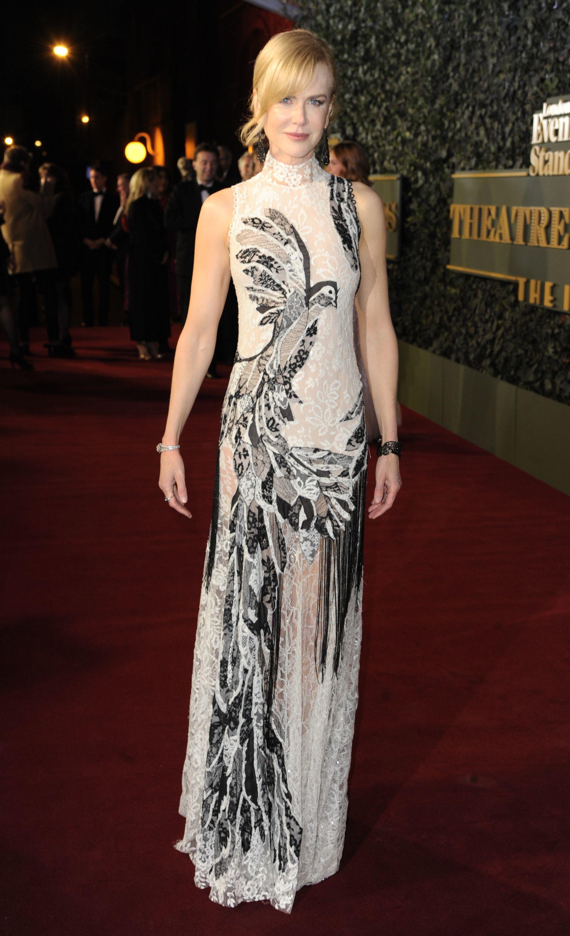 Nicole Kidman attends the Evening Standard Theatre Awards in London on Nov. 22, 2015.