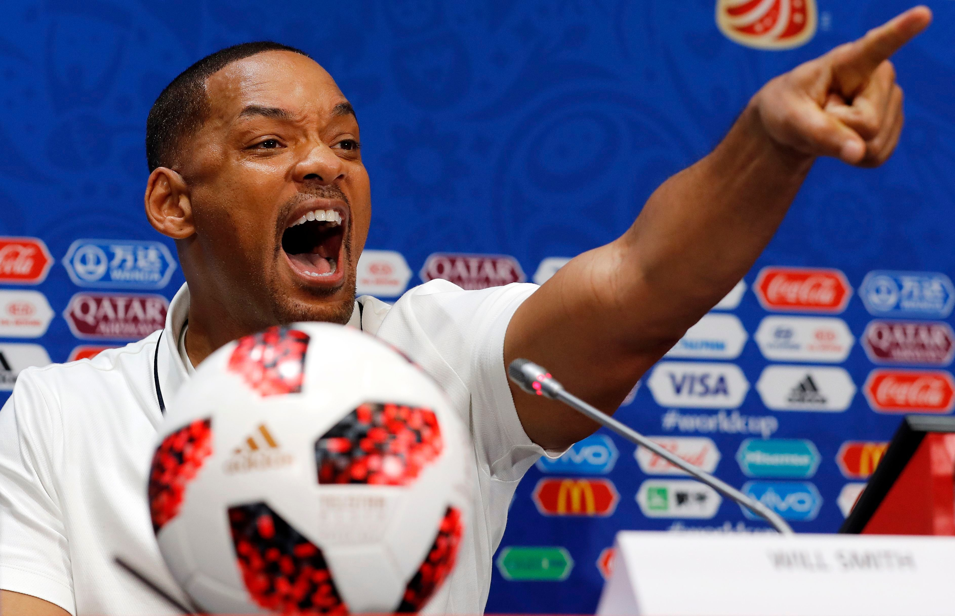 Will Smith attends the FIFA World Cup 2018 closing ceremony press conference in Moscow, Russia, on July 13, 2018.