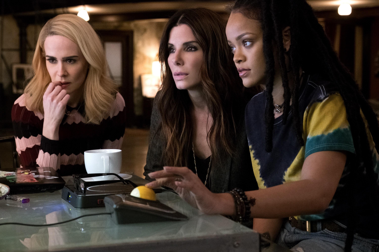 """Sarah Paulson, Sandra Bullock and Rihanna in 2018's """"Ocean's 8."""""""