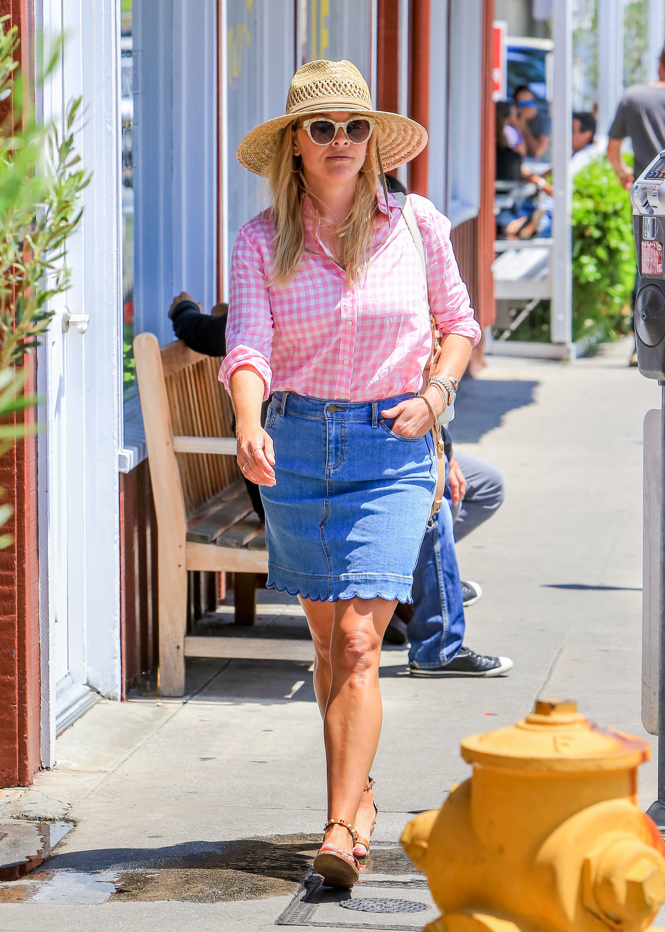 Reese Witherspoon is spotted out and about in Los Angeles on July 19, 2018.