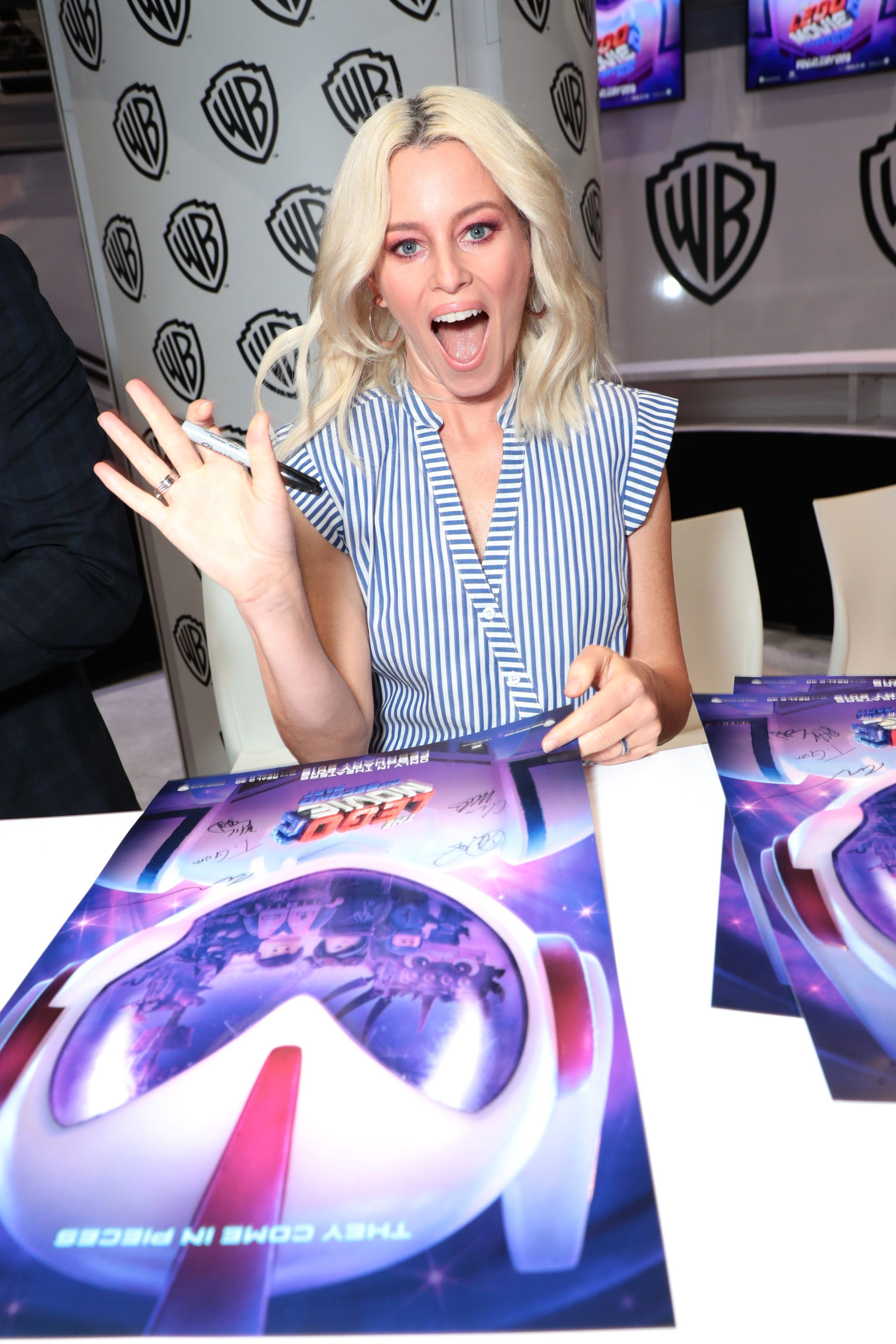 Elizabeth Banks attends Warner Bros. 'Lego Movie 2: The Second Part' signing at 2018 Comic Con in San Diego, Calif., on July 21, 2018.