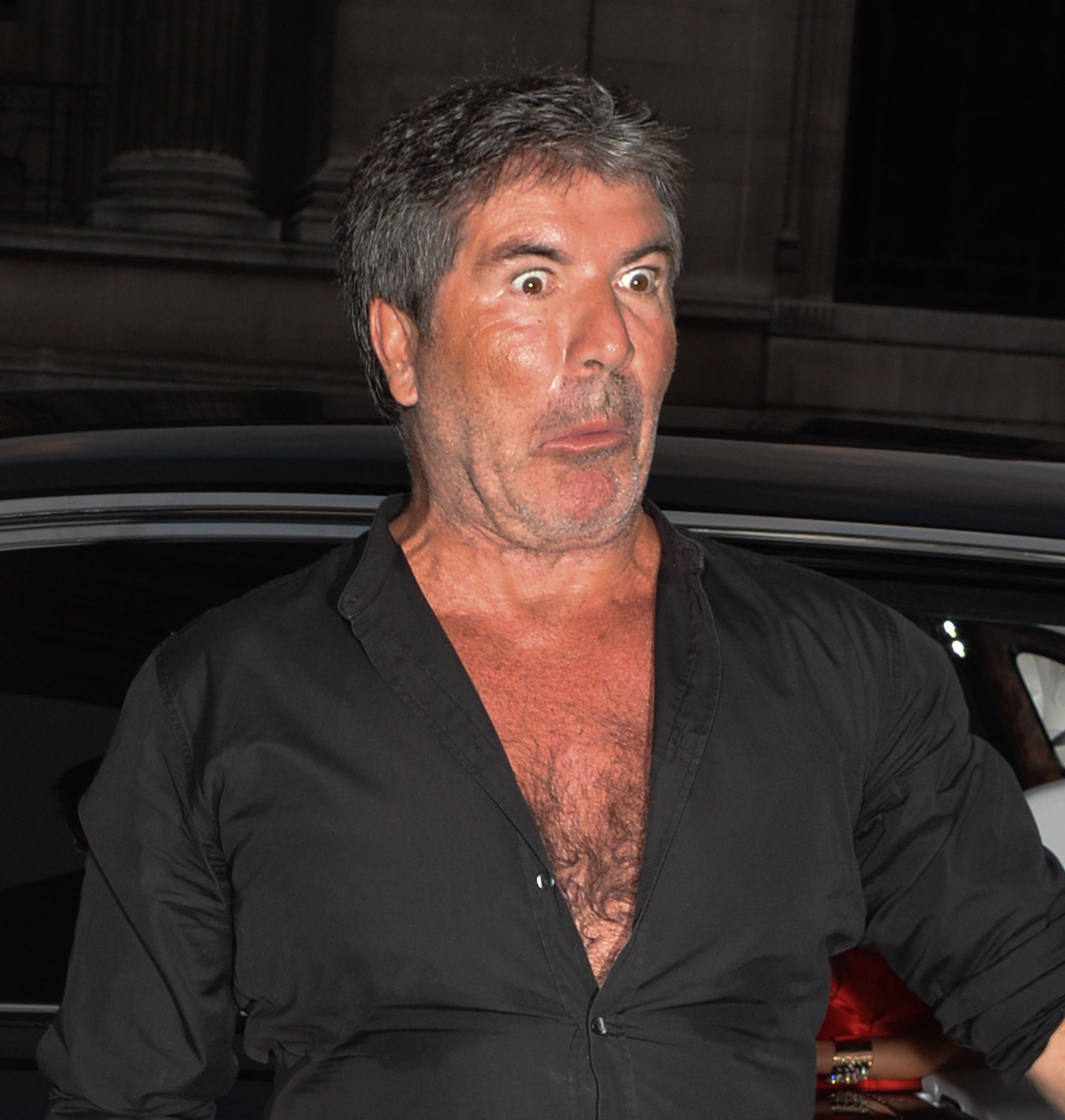 Simon Cowell arrives at Syco Summer party in London on July 9, 2018.