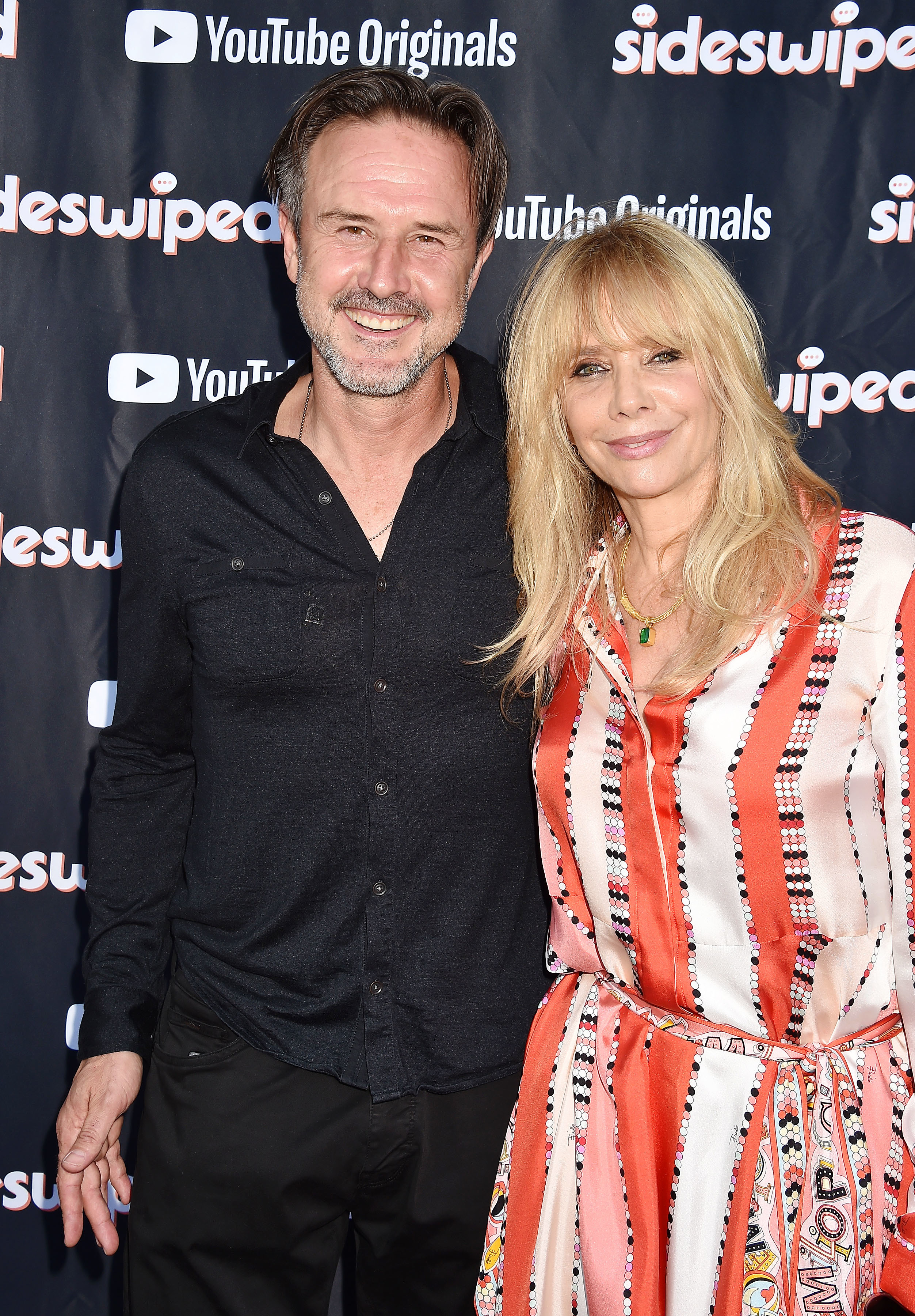 David Arquette and Rosanna Arquette attend the premiere of YouTube Originals' Sideswiped at the YouTube Space in Los Angeles on July 27, 2018.