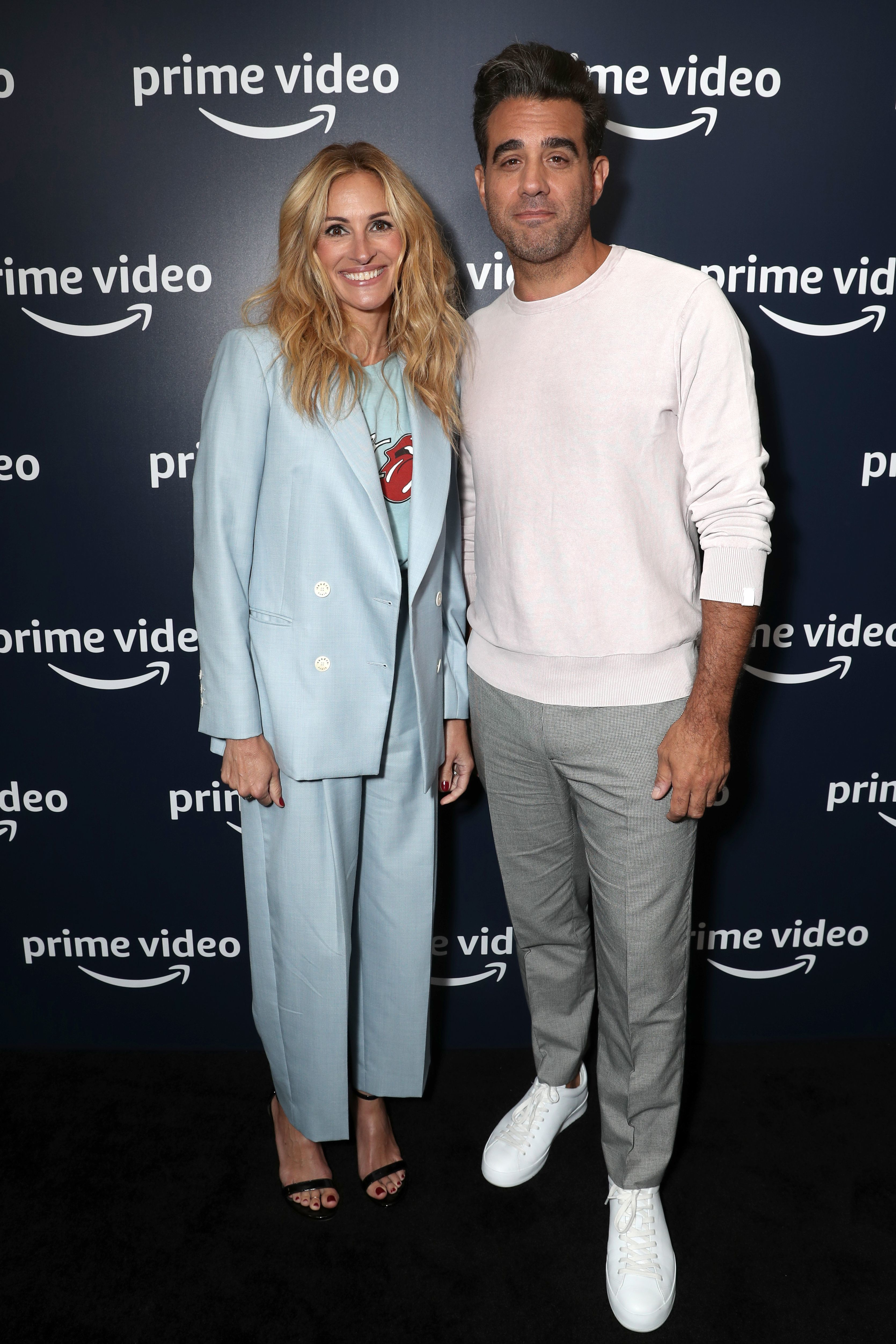 "Julia Roberts and Bobby Cannavale attend a photo call for Amazon's ""Homecoming"" during the TCA Summer Press Tour in Los Angeles on July 28, 2018."
