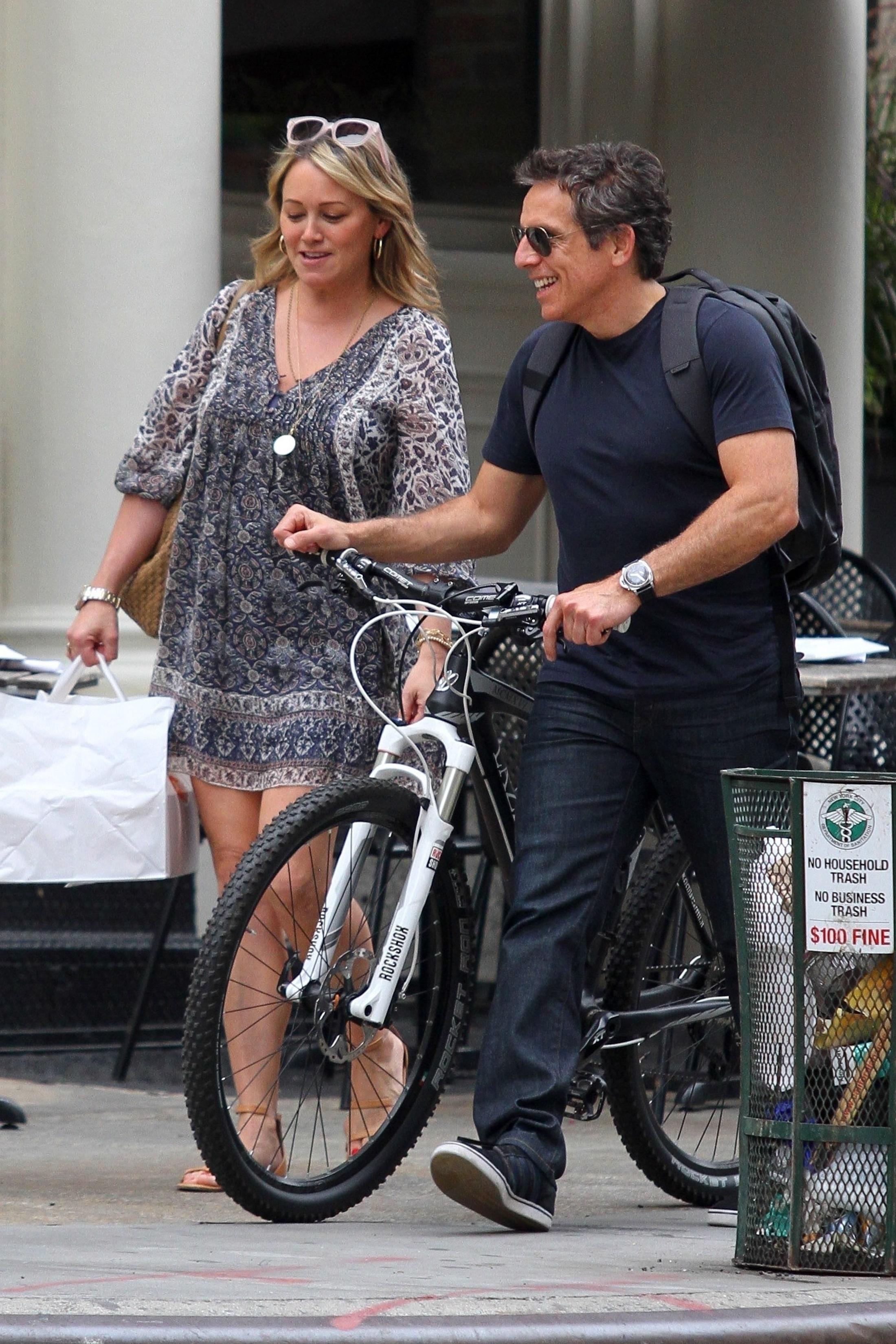 Ben Stiller holds hands with his ex, Christine Taylor
