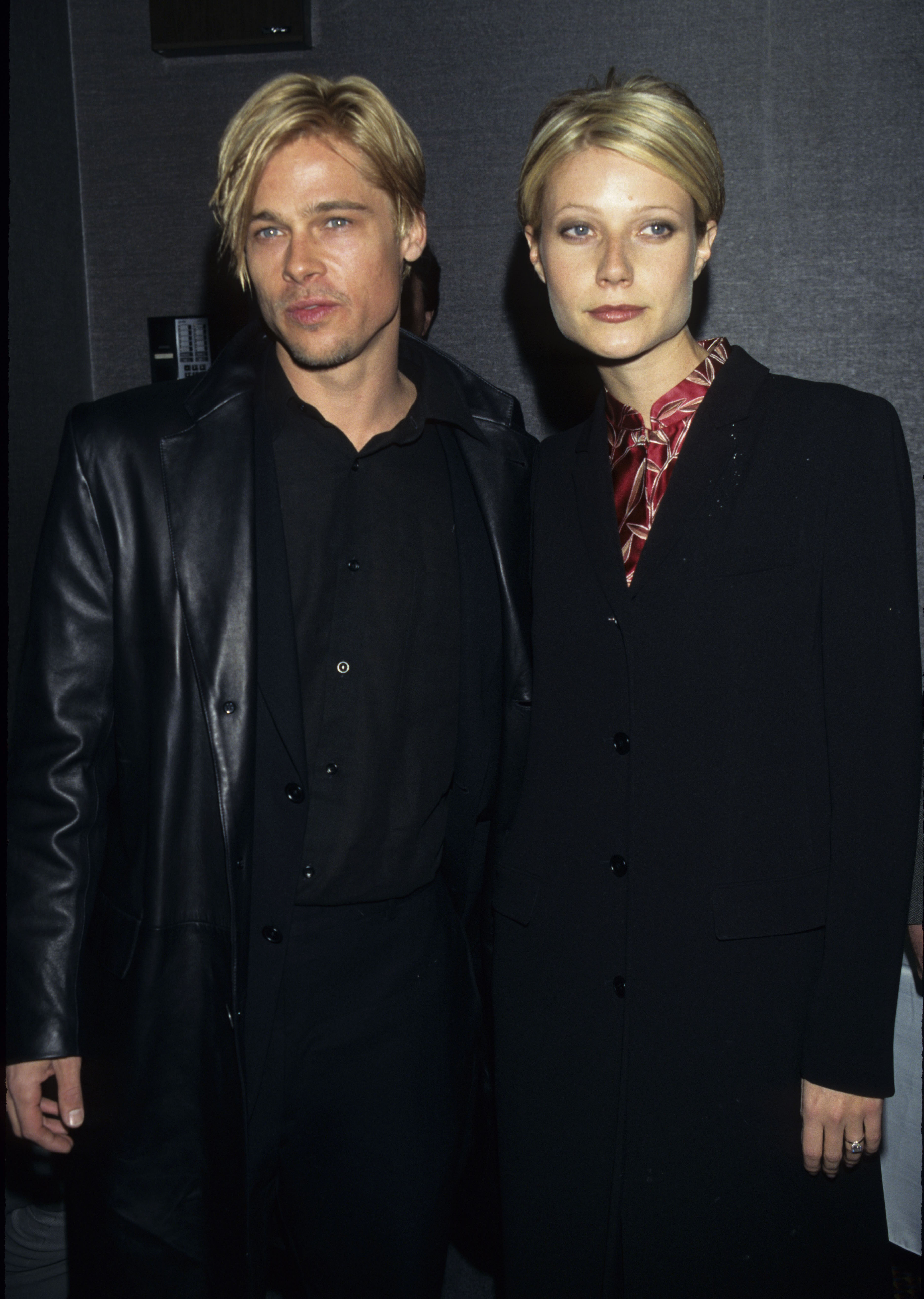 Brad Pitt and actress Gwyneth Paltrow attend 'The Devil's Own' New York City Premiere at City Cinemas Cinema 1 in New York City on March 13, 1997 .